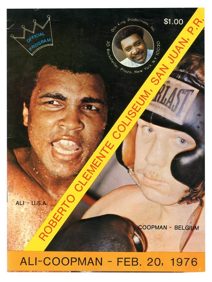 Cassius Clay/Muhammad Ali Program Collection - Fall 2016
