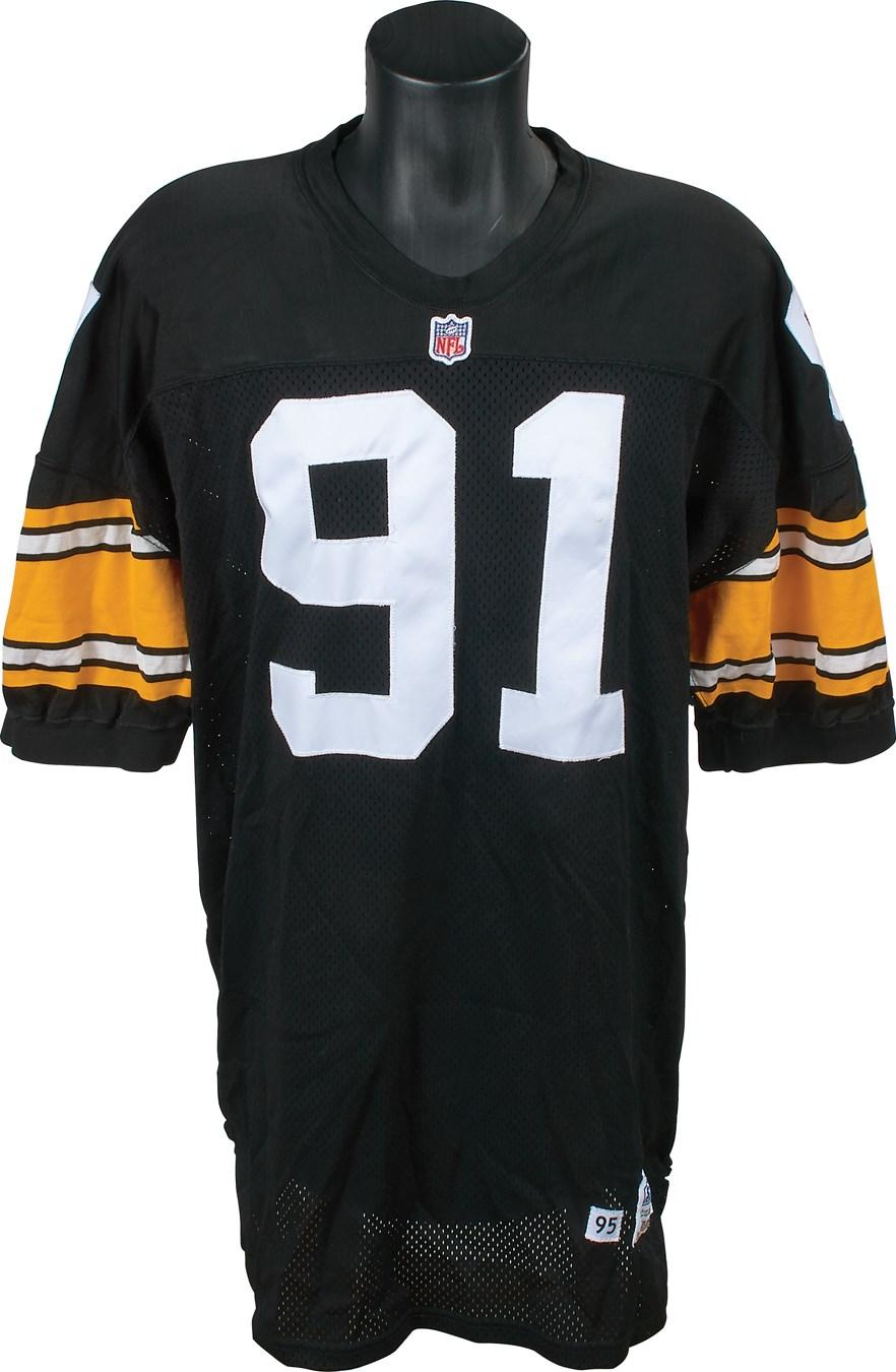 1995 Kevin Greene Pittsburgh Steelers Game Worn Jersey