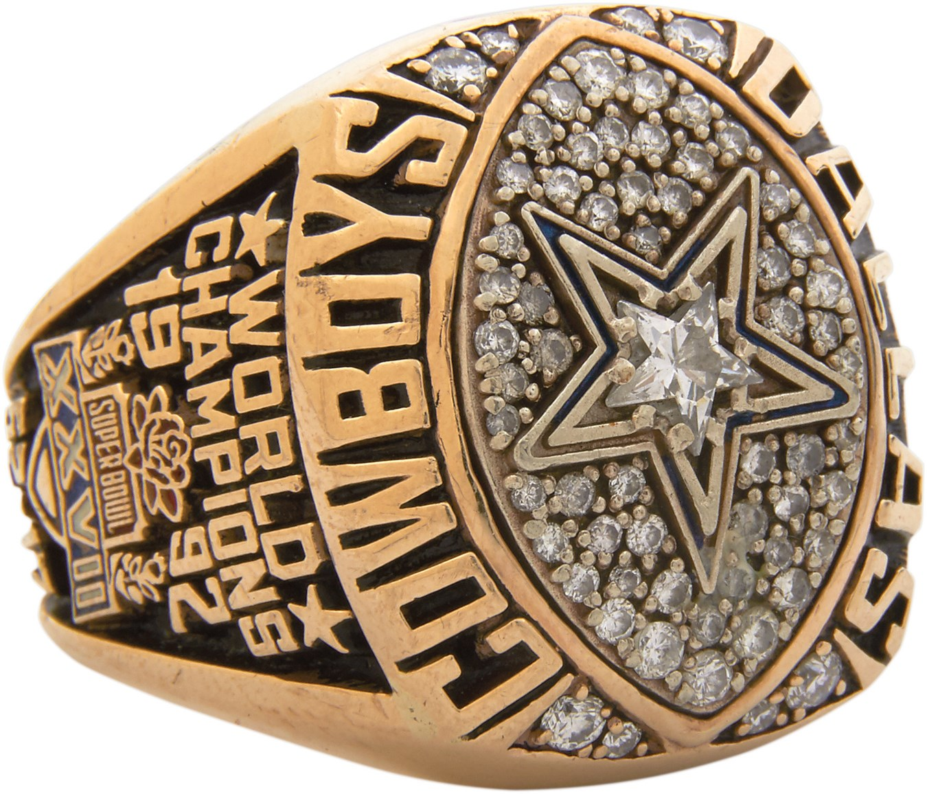 Tony Casillas 1992 Dallas Cowboys Super Bowl Champion Ring (Player LOA)