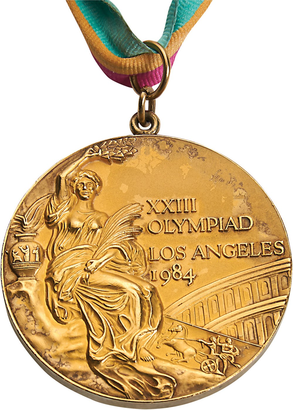 1984 Los Angeles Olympics USA Basketball Gold Medal Presented to Teresa Edwards