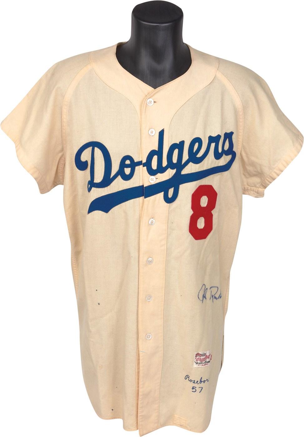the best attitude 15538 4e4ba 1957 John Roseboro Brooklyn Dodgers Game Worn Jersey - Last ...