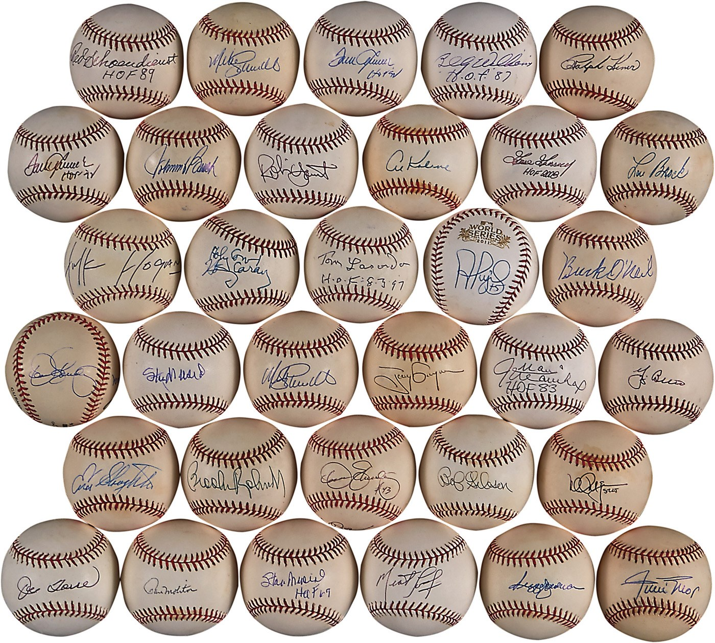 Large Collection of Single-Signed Baseballs From The Mike Shannon Collection (149)