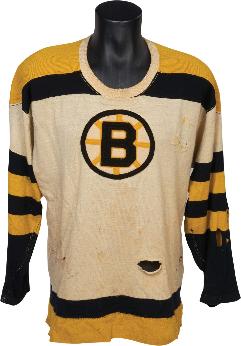 save off 3b009 9f0f3 1950s Fleming MacKell Game Worn Boston Bruins Sweater w/38 ...