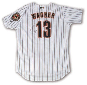 2001 Billy Wagner Game Worn Jersey