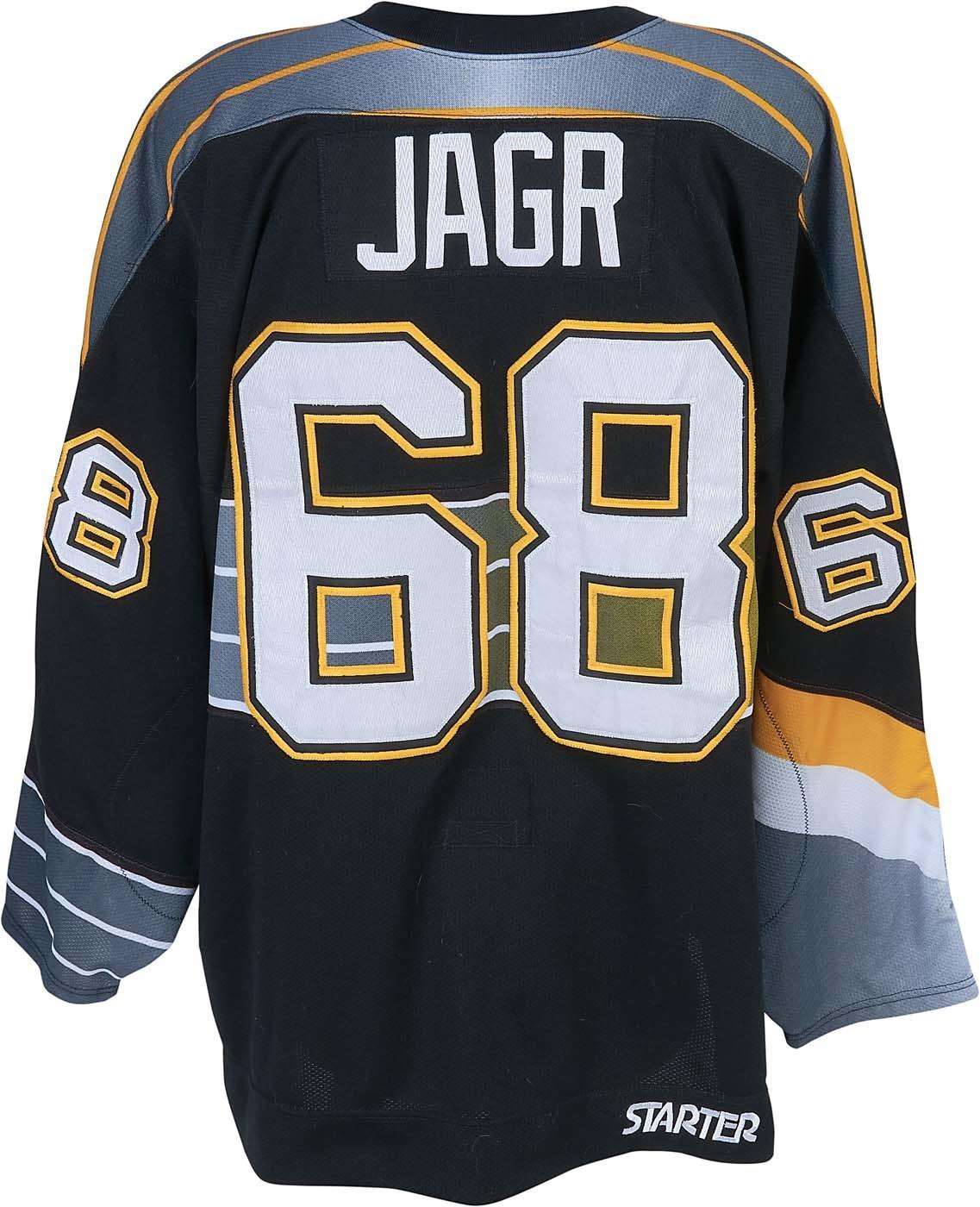 sports shoes aaf88 917a1 1997-98 Jaromir Jagr Pittsburgh Penguins Game Worn Jersey