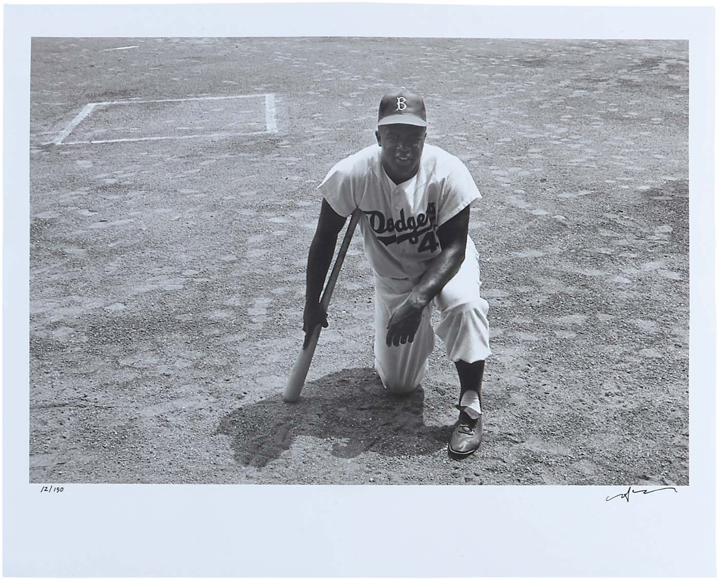 Jackie Robinson Limited Edition Neil Leifer Original Photo (1956)