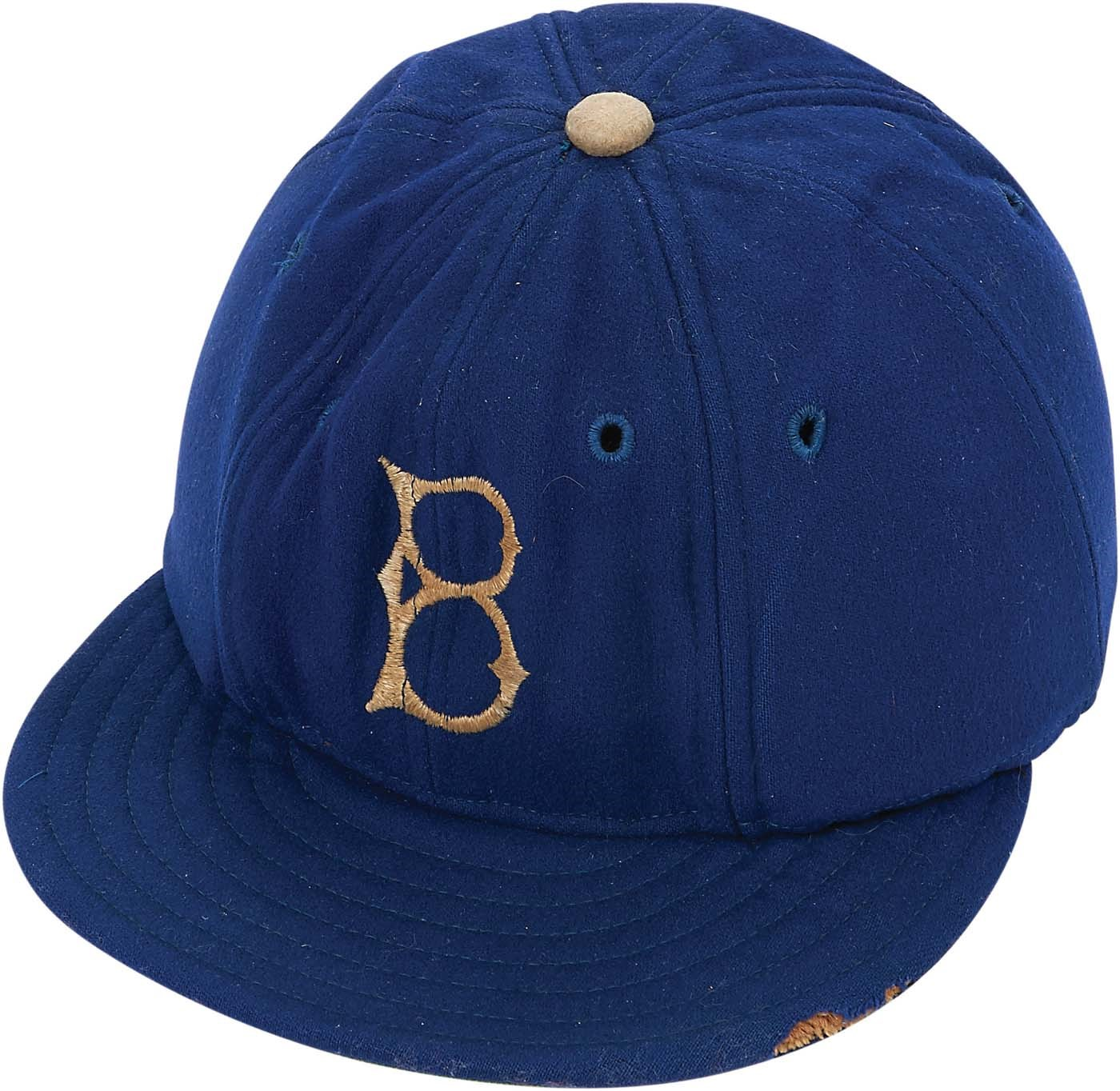 1947 Jackie Robinson Rookie Year Cap - Used To Fend Off Racially Motivated Beanballs (Rachel Robinson Letter)