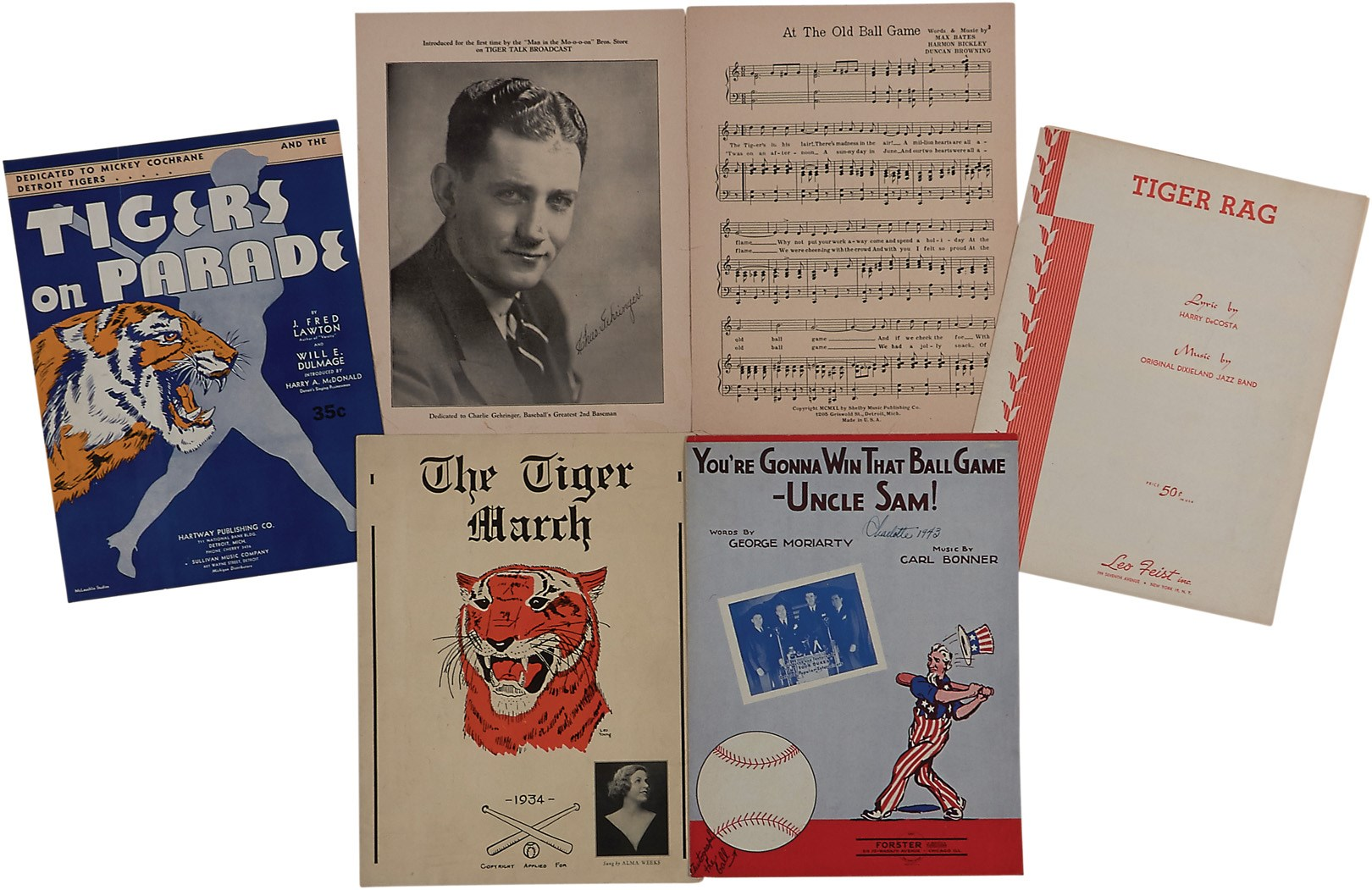 1930s-40s Detroit Tigers Sheet Music (5)