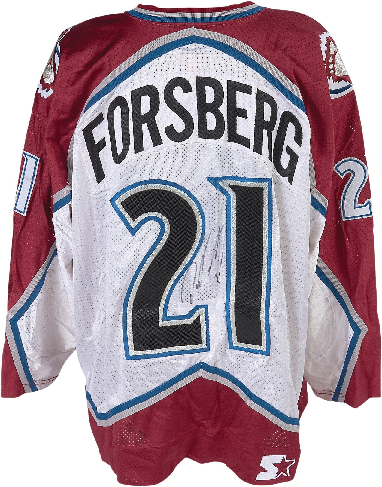 1998-99 Peter Forsberg Colorado Avalanche Game Worn Jersey (Photo-Matched, MeiGray)