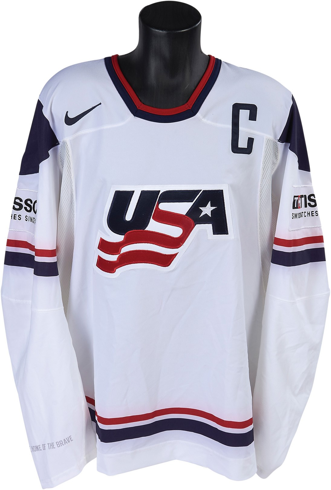 2010 Jack Johnson Ice Hockey World Championships Game Worn Jersey