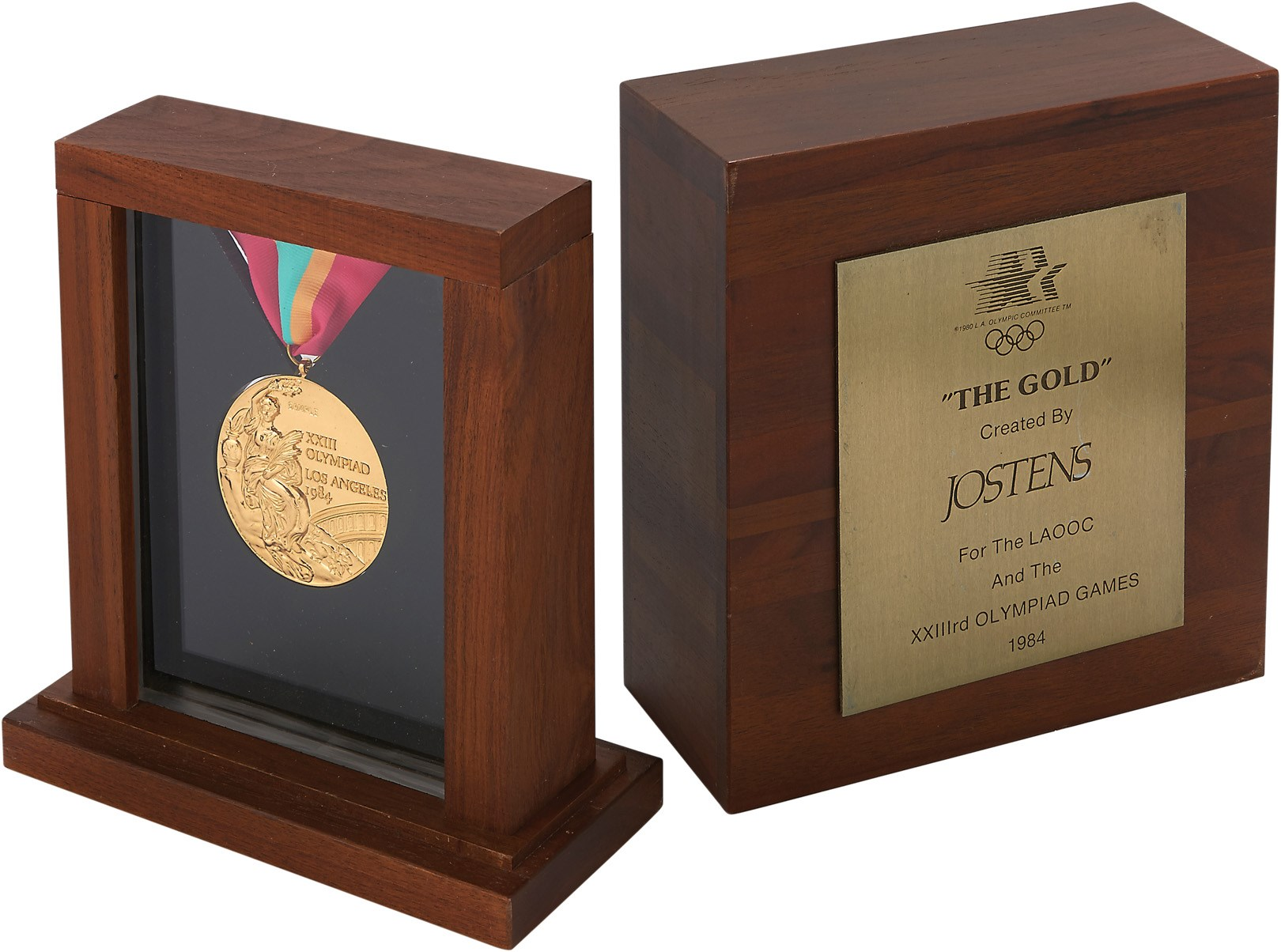 1984 Los Angeles Summer Olympics Gold Medal in Jostens Presentational Box