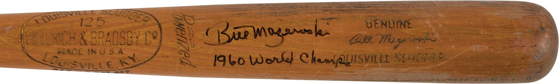 Circa 1960 Bill Mazeroski Signed Game Used Bat