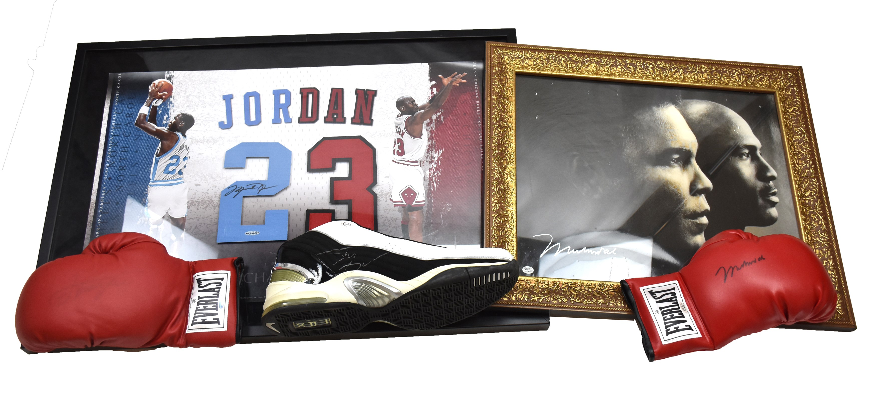 Multi-Sport Autograph and Game Used Collection w/Michael Jordan & Muhammad Ali