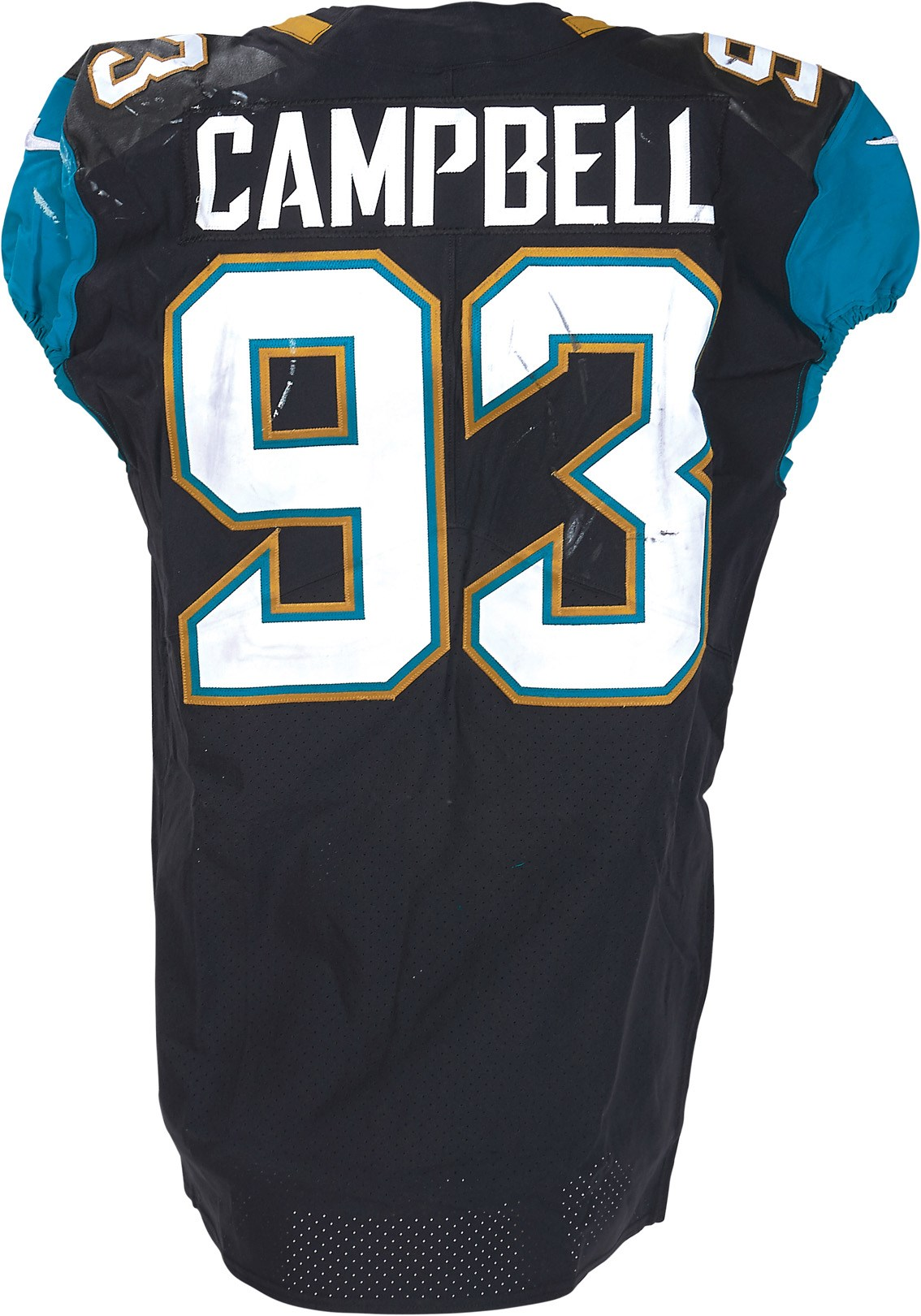 2017 Calais Campbell Game Worn Jaguars Jersey vs. NY Jets - Sack Game (Fanatics & Photo-Matched)