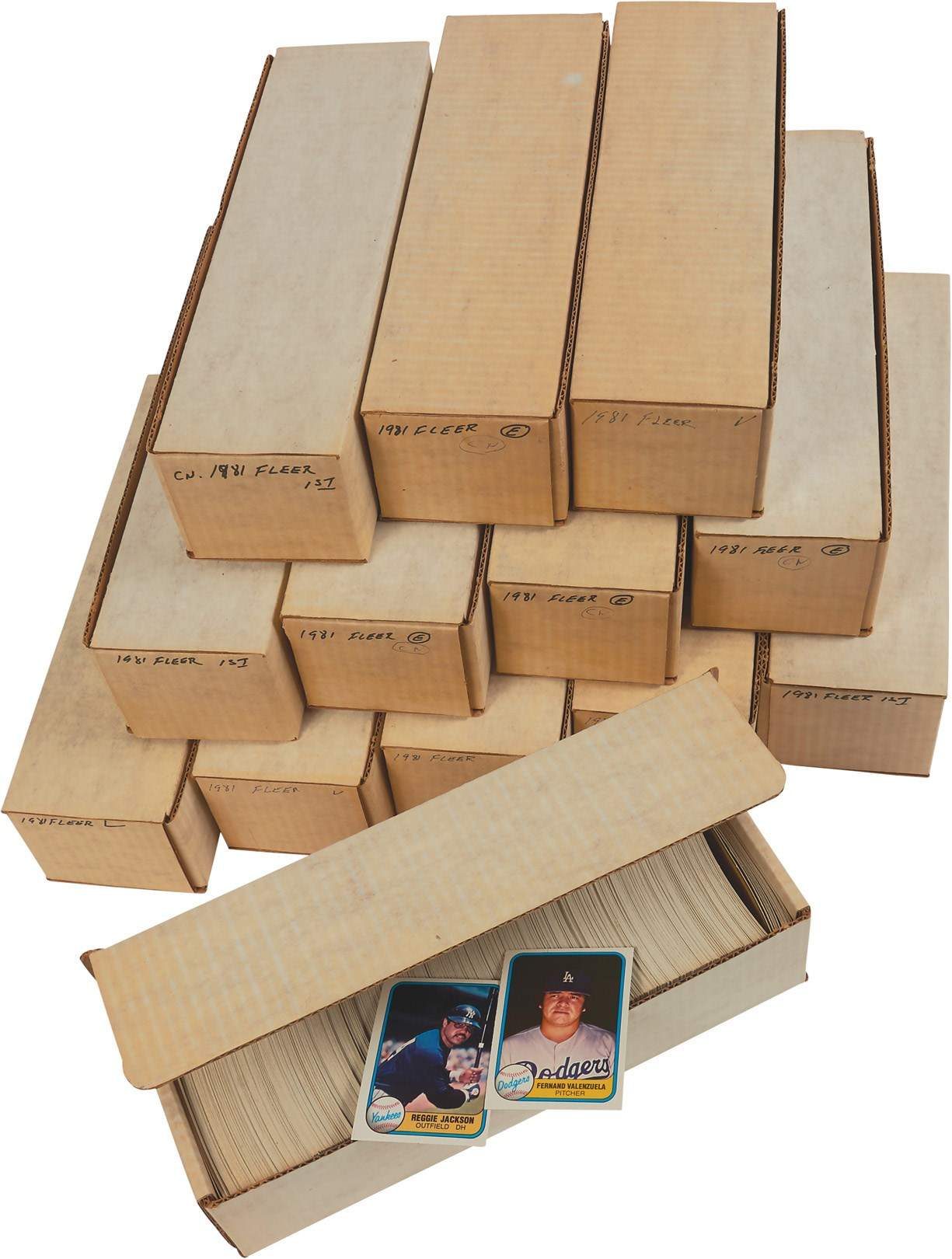 1981 Fleer Complete Sets (8) PLUS Over 3,000 Extras with Stars