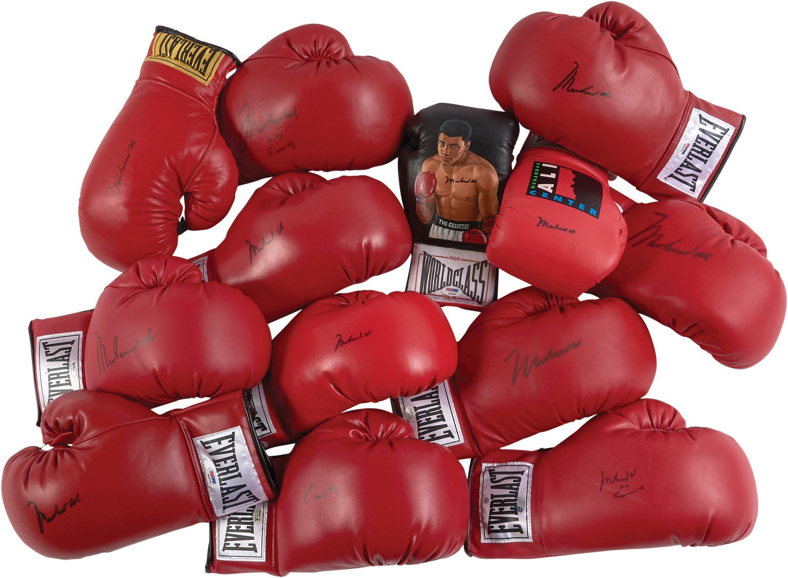 Muhammad Ali & Cassius Clay Signed Boxing Glove Collection (13)