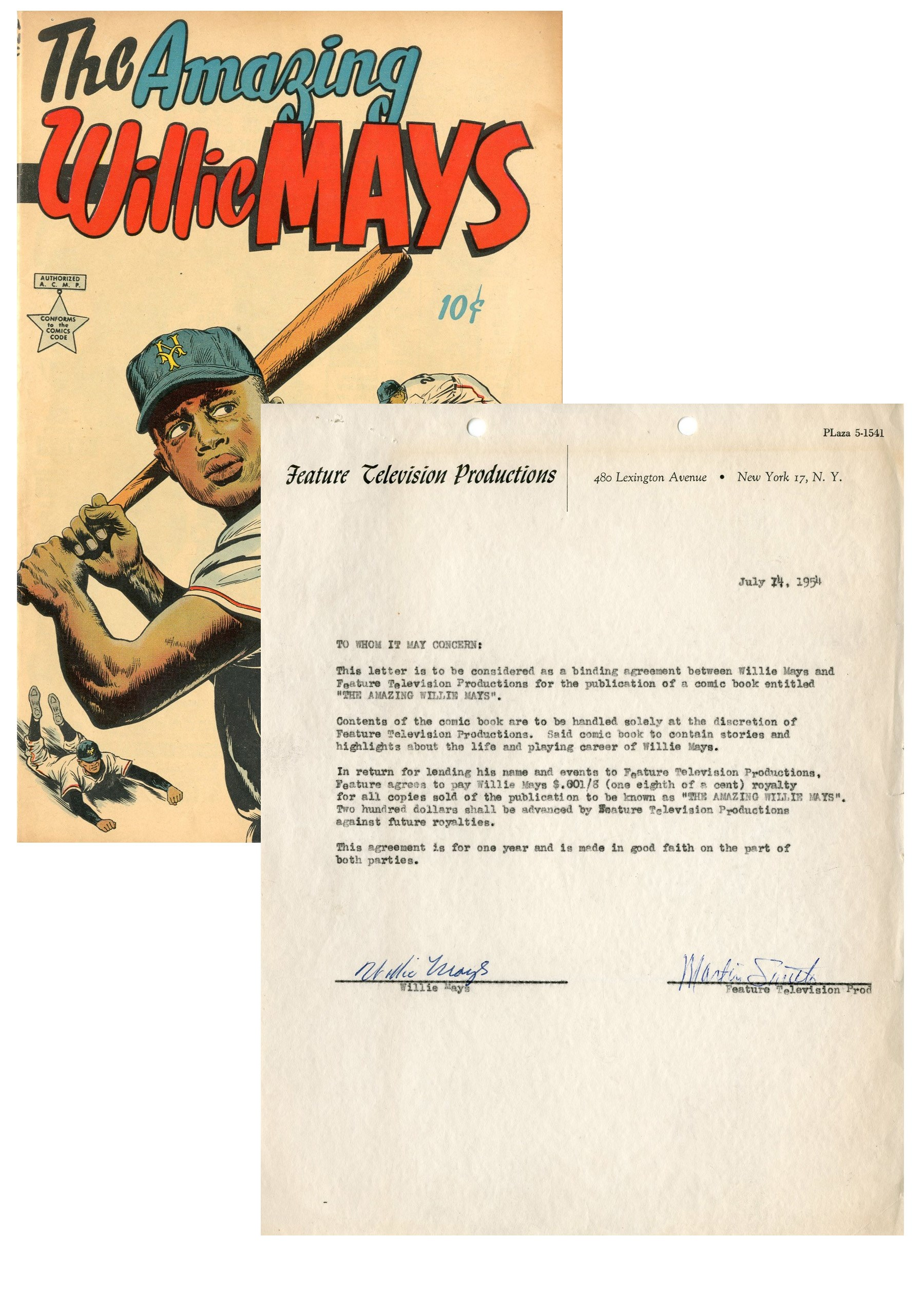 1954 Willie Mays Signed
