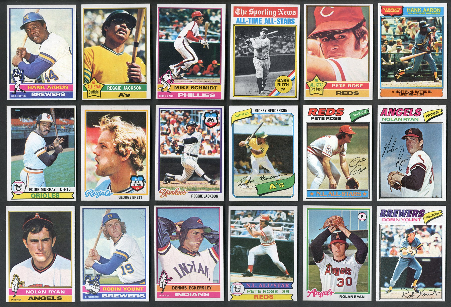 1975-1982 Topps Collection of TEN Sets