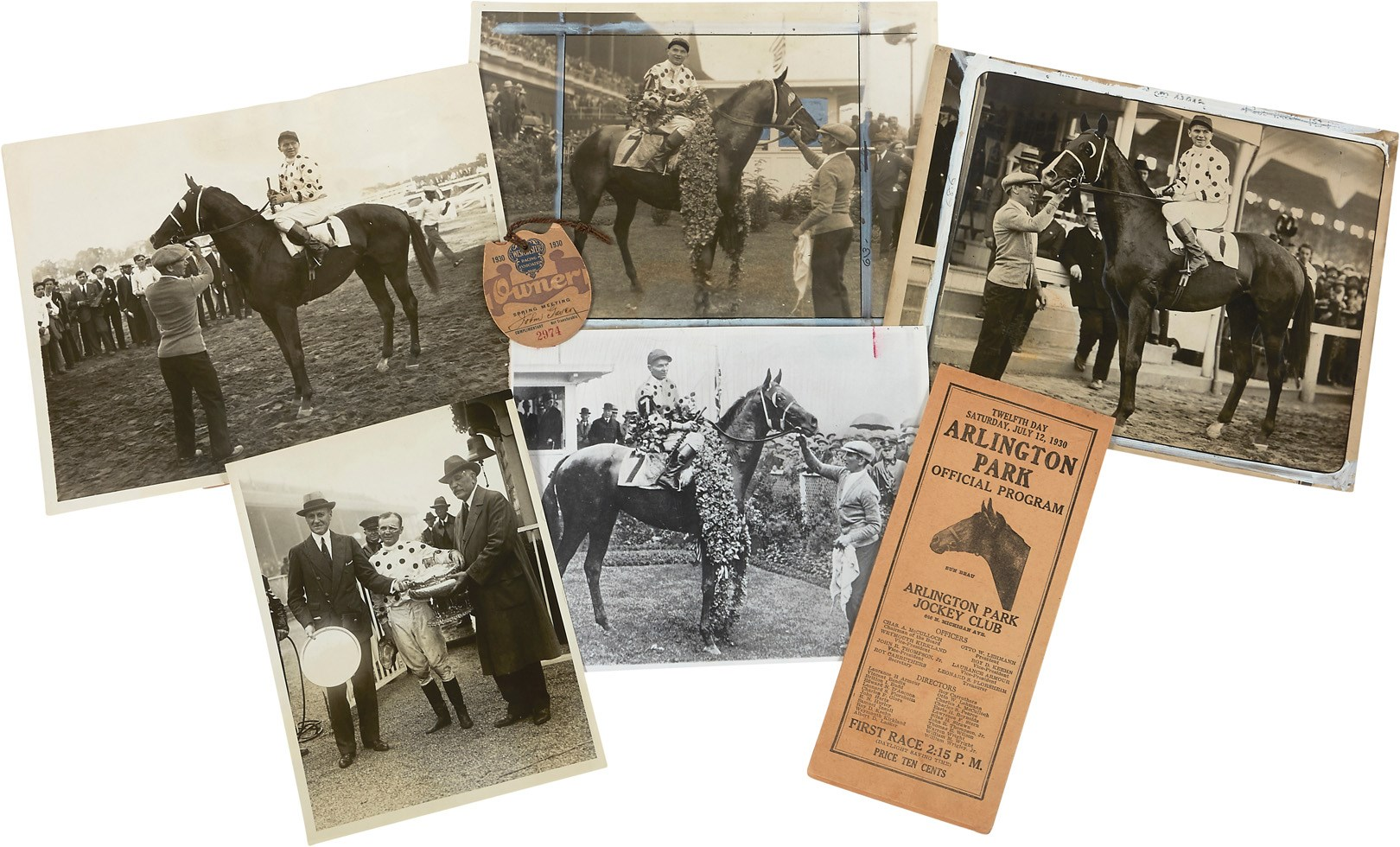 Triple Crown Winner Gallant Fox Programs, Photos & More (7)