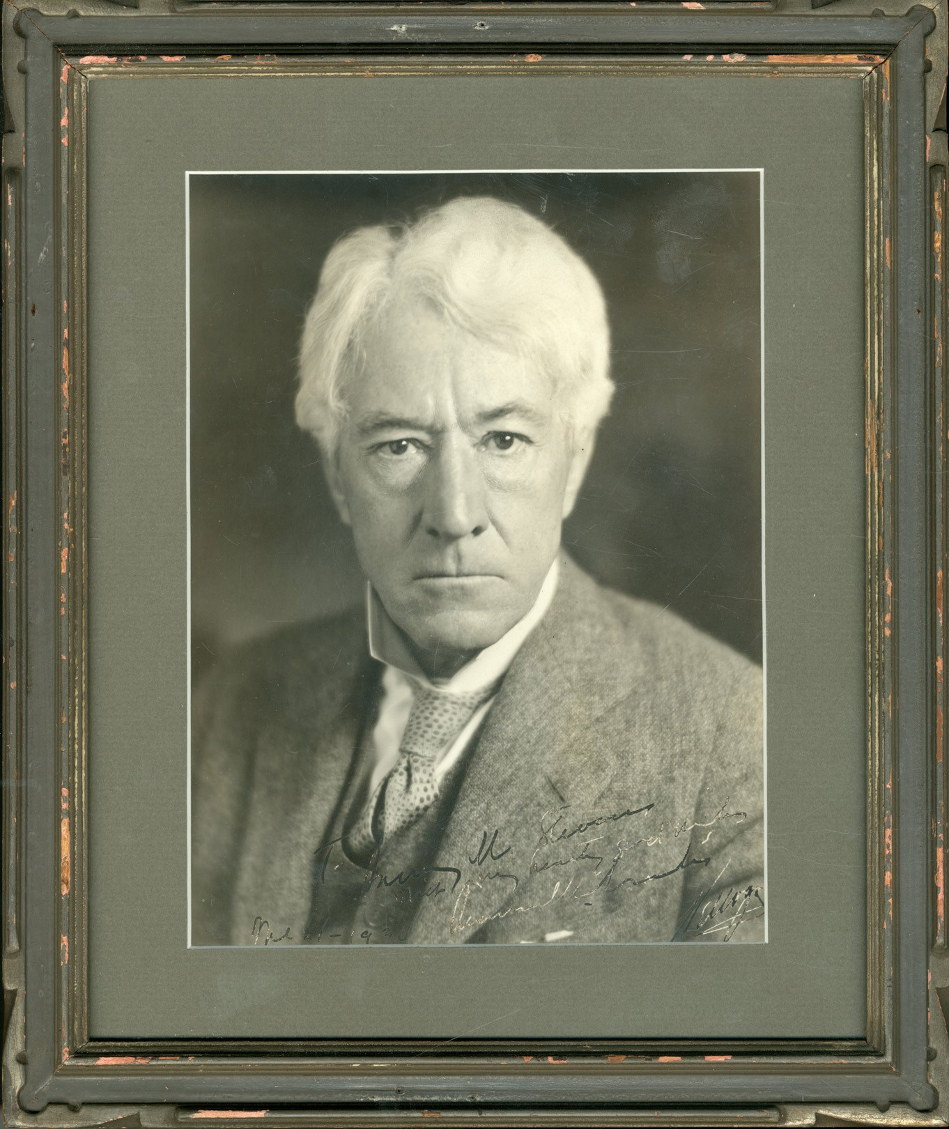 1930 Kenesaw Landis Signed Photograph to Harry M. Stevens (PSA)