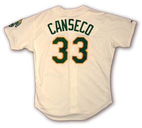 1990 Jose Canseco Game Worn Jersey