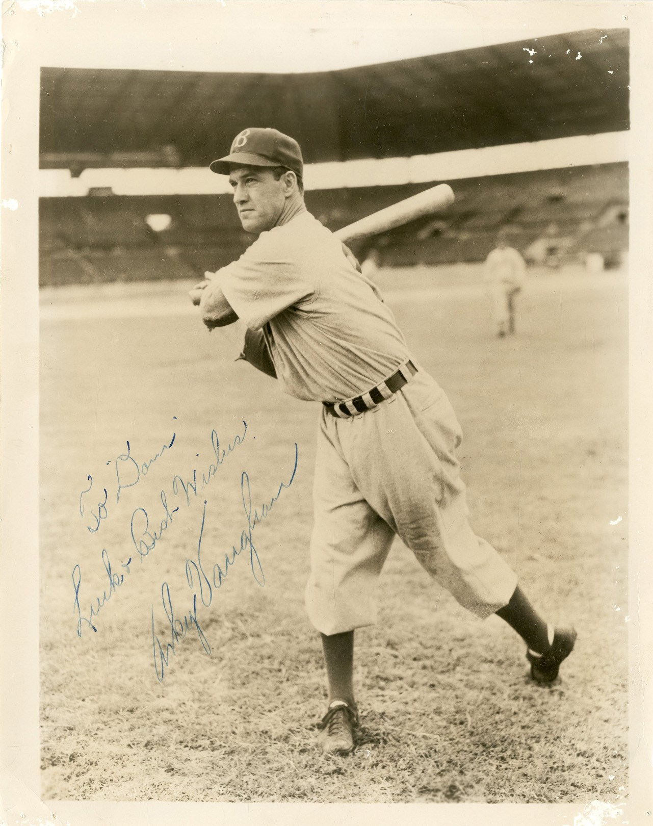 1940s Arky Vaughn Signed Photograph to Dom DiMaggio (JSA)