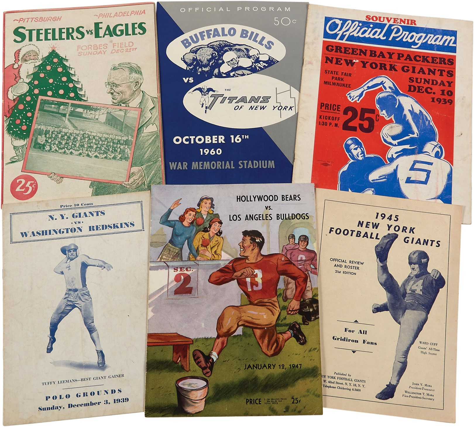 Early Pro Football Program Collection with 1939 NFL Championship (35+)