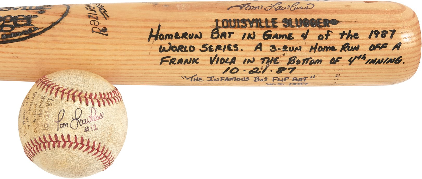 1987 World Series Tom Lawless Game Used