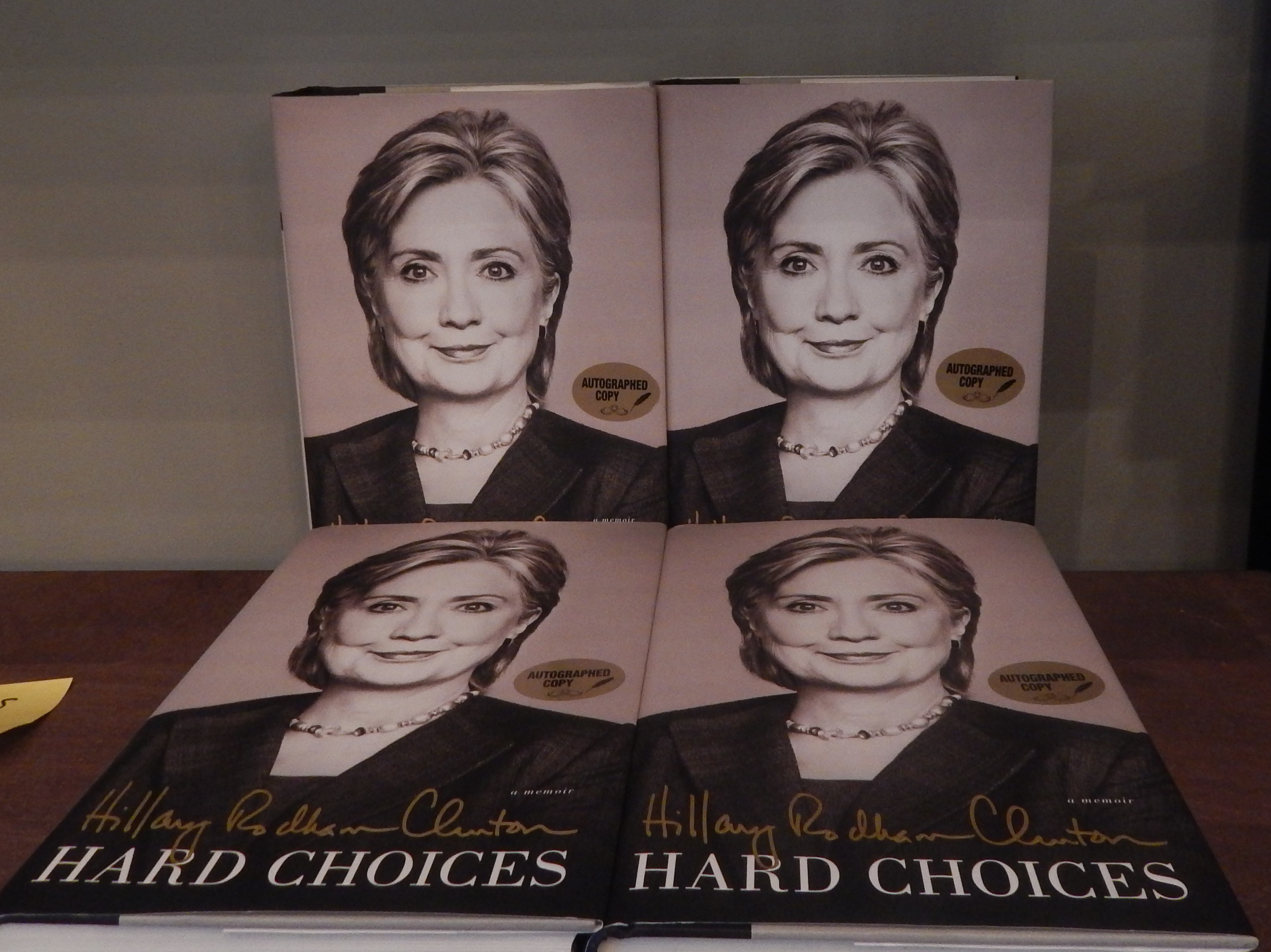 Four Signed Hillary Clinton