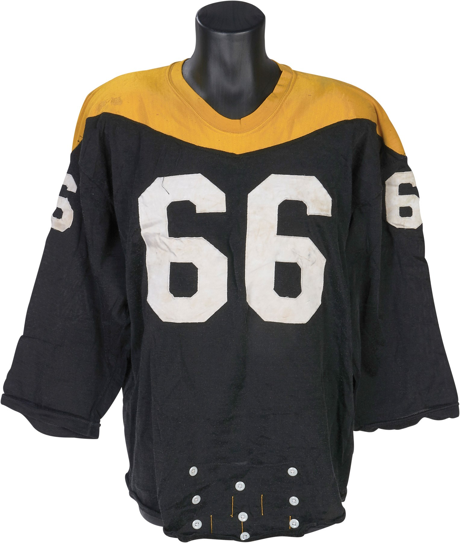 best service 6d0c0 9f074 1967 Bruce Van Dyke Pittsburgh Steelers Game Worn Jersey