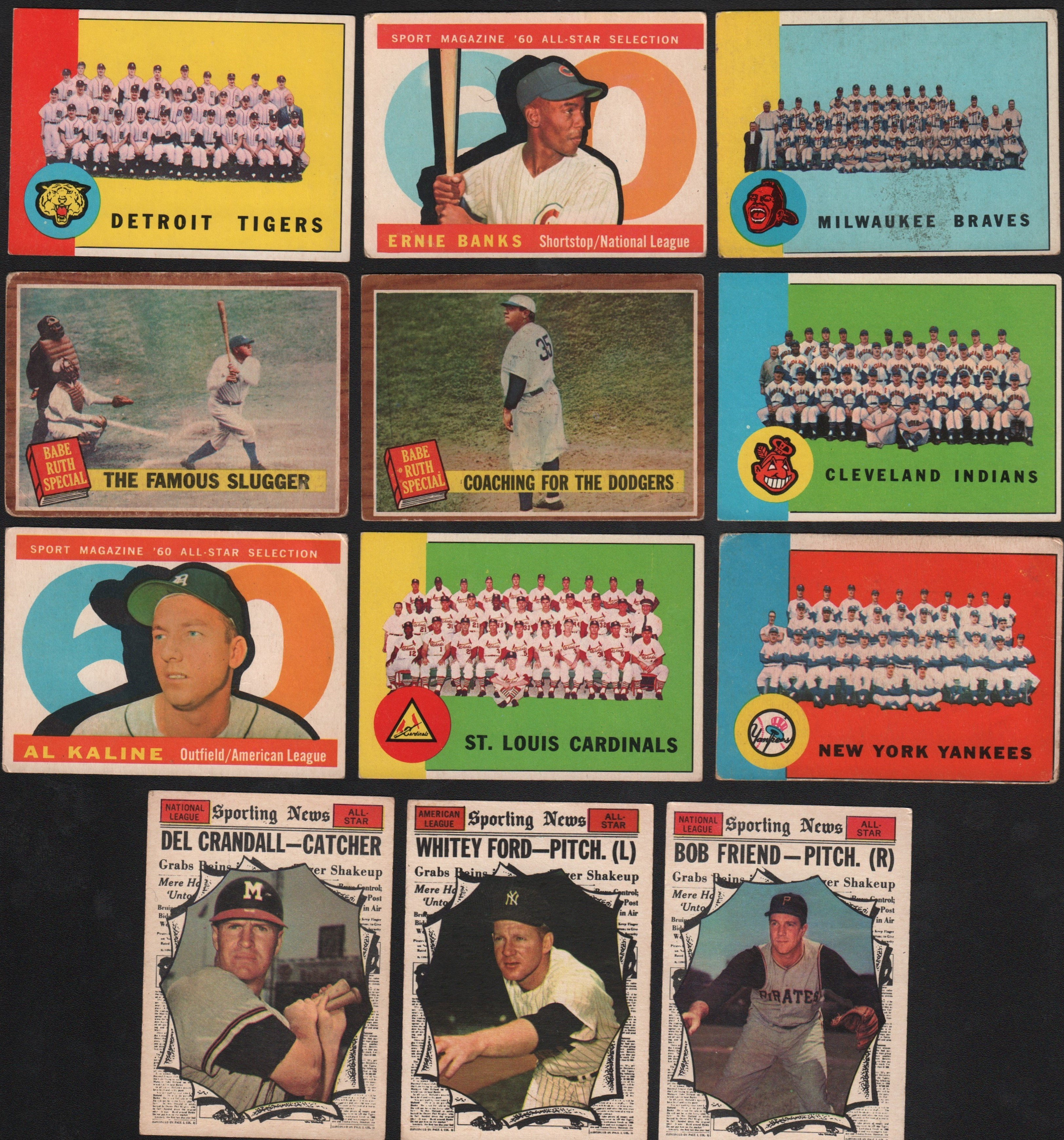 1958-1963 Topps Collection of 44 Cards - mostly Stars and High Numbers