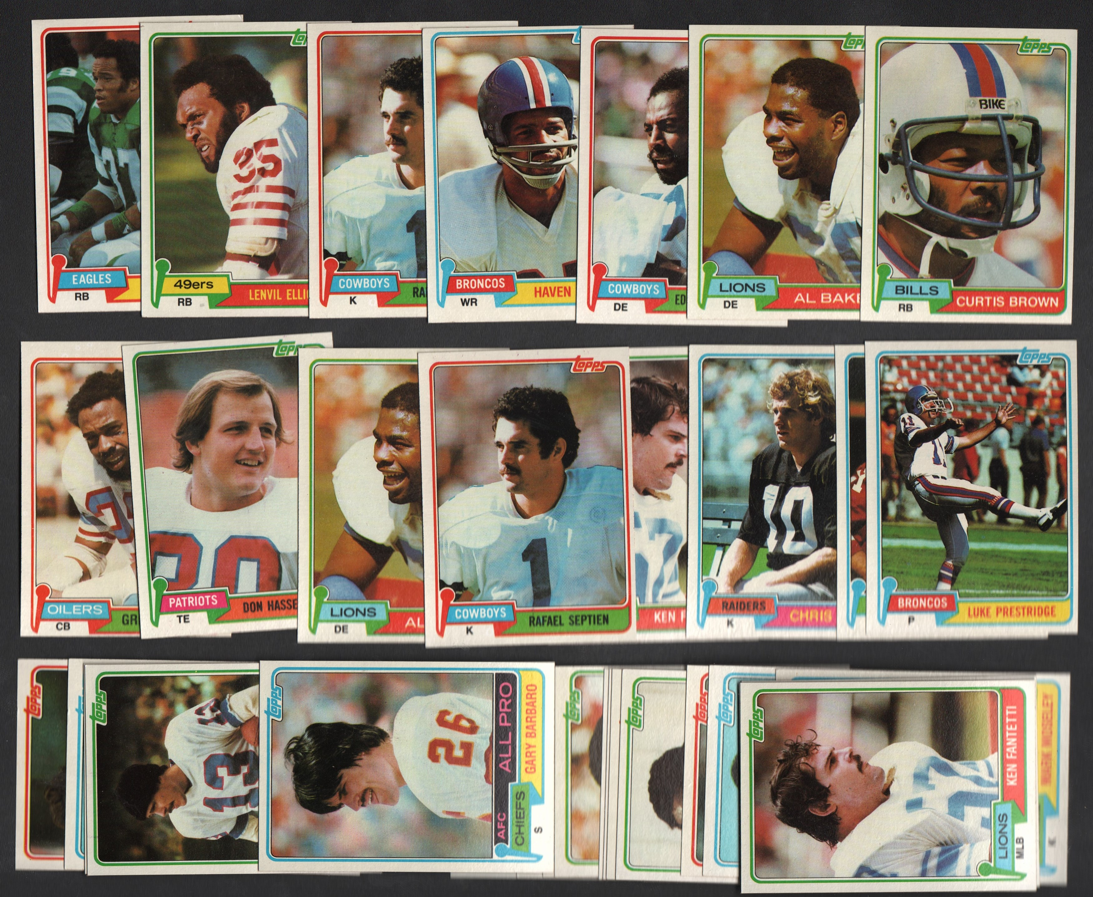 1981 Topps FOOTBALL Massive Lot of 12,000+ Cards
