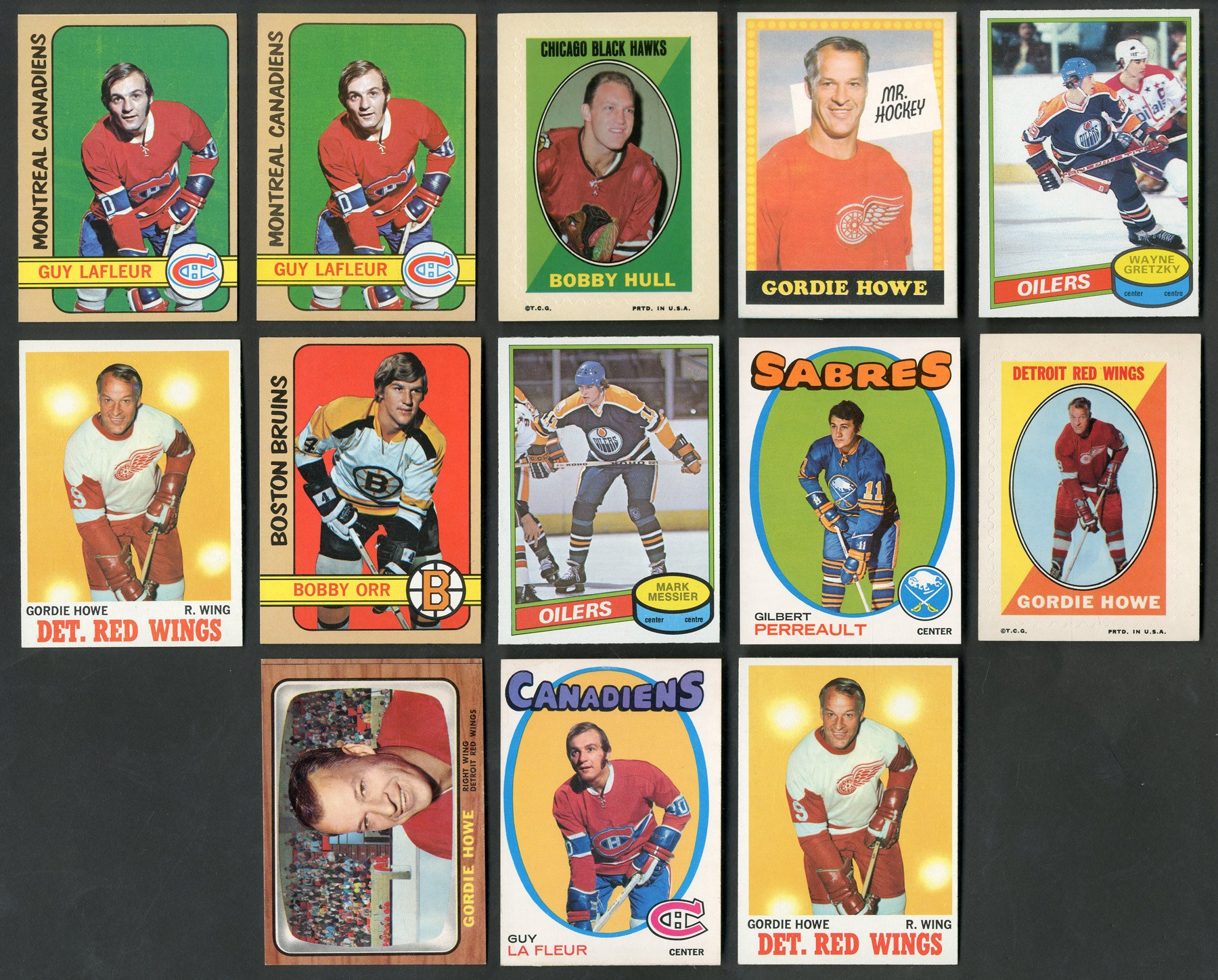 1960s-80s Topps & O-Pee-Chee Star Collection with Howe, Gretzky, Orr (13)