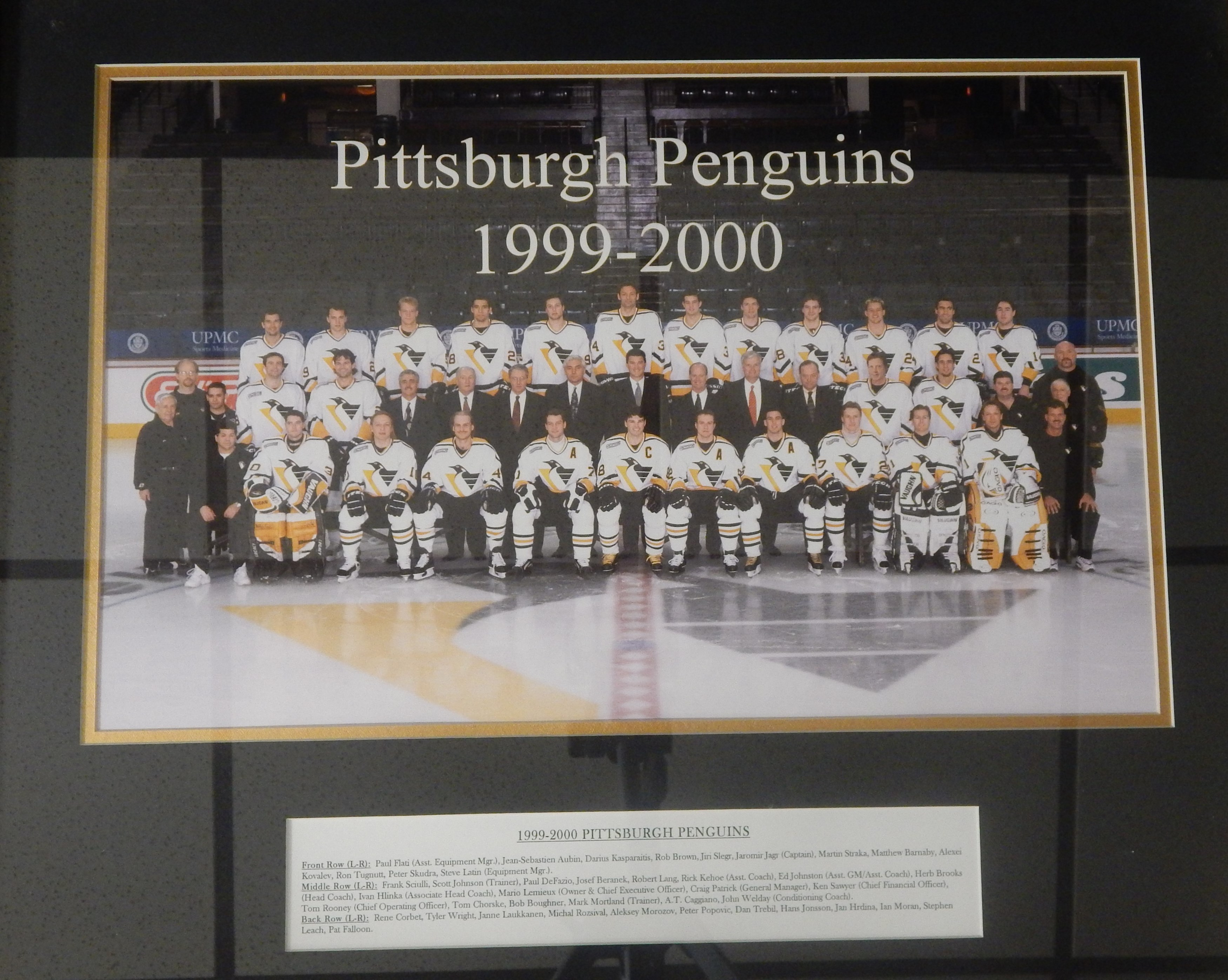 1999 Pittsburgh Penguins Team Photograph Once Hung in Civic Center (ex-Pitt Penguins Exec)