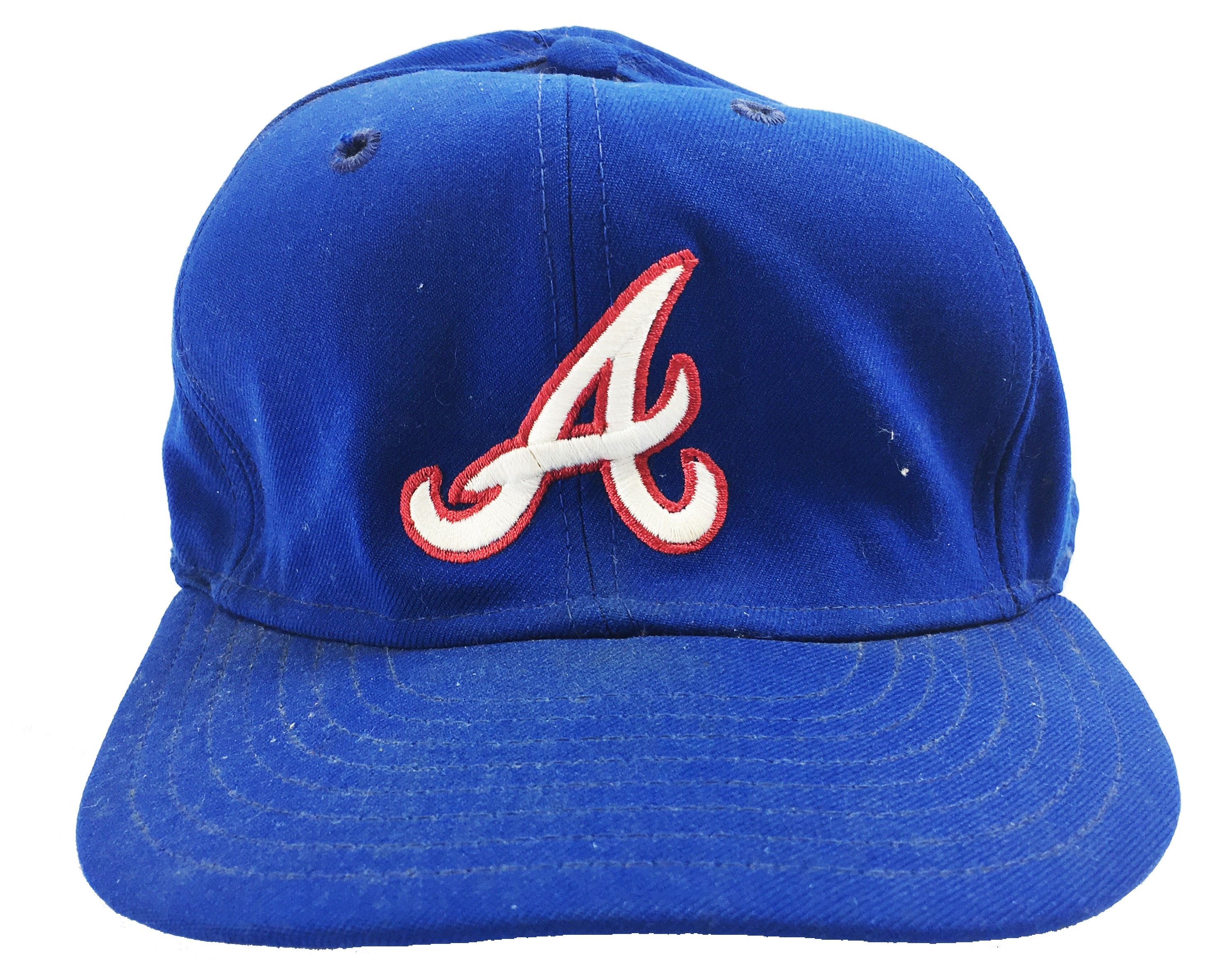 Circa 1983 Joe Torre Signed Game Worn Atlanta Braves Cap