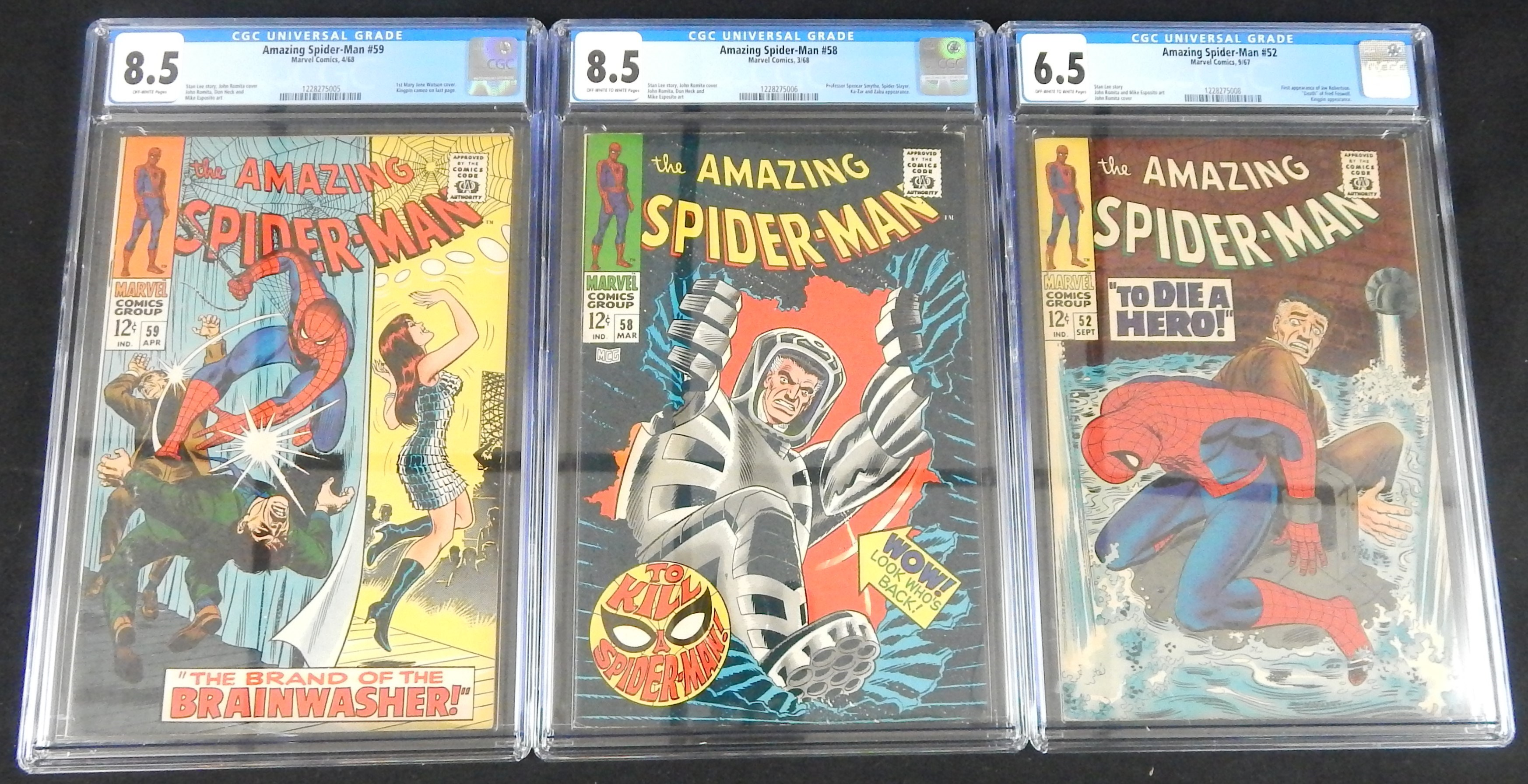 Classic Romita Era Spider-Man CGC Graded Comics (3)