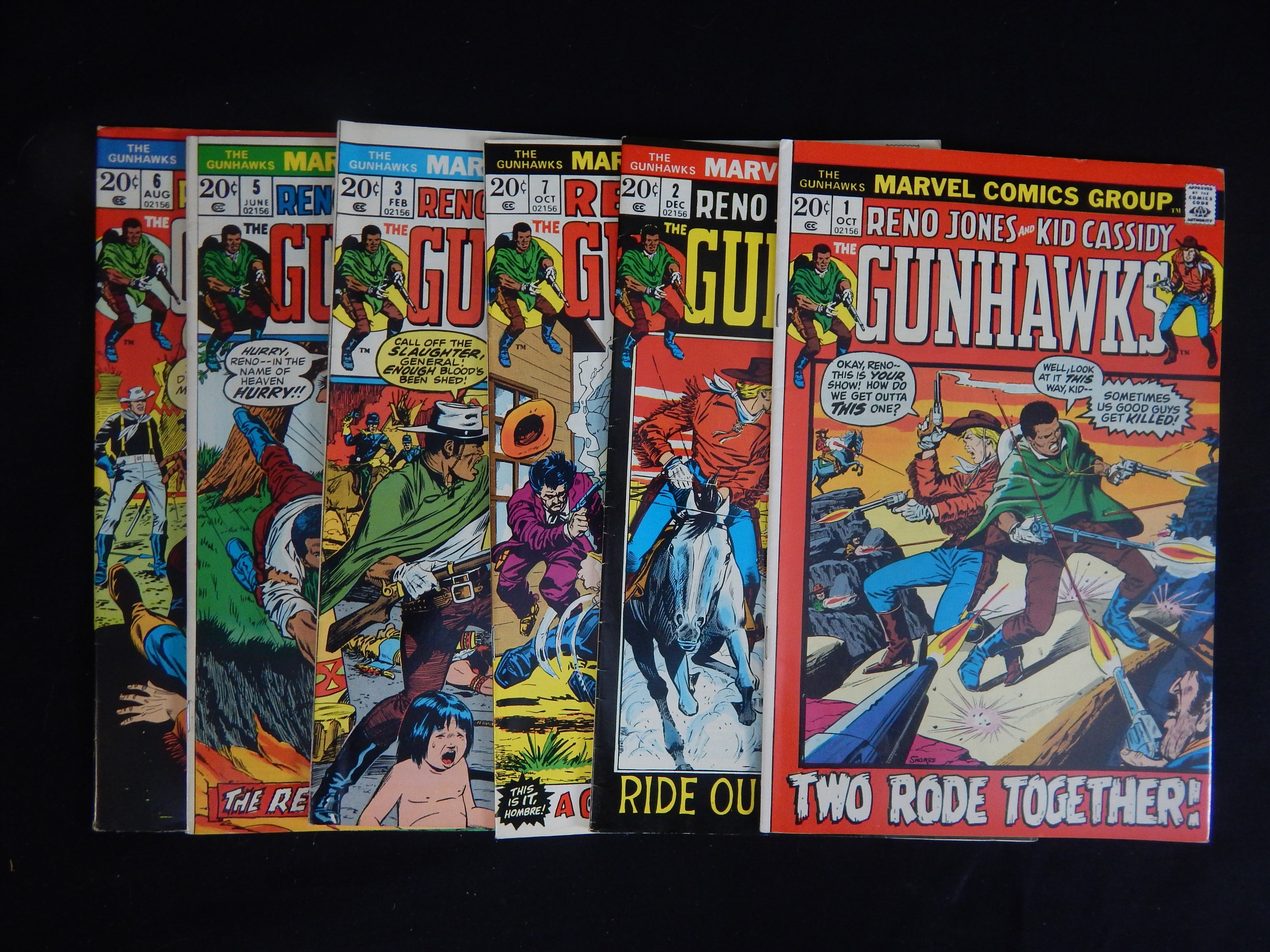 1972 Gunhawks Marvel Comics Lot (6) - Fastidious Uncle Collection