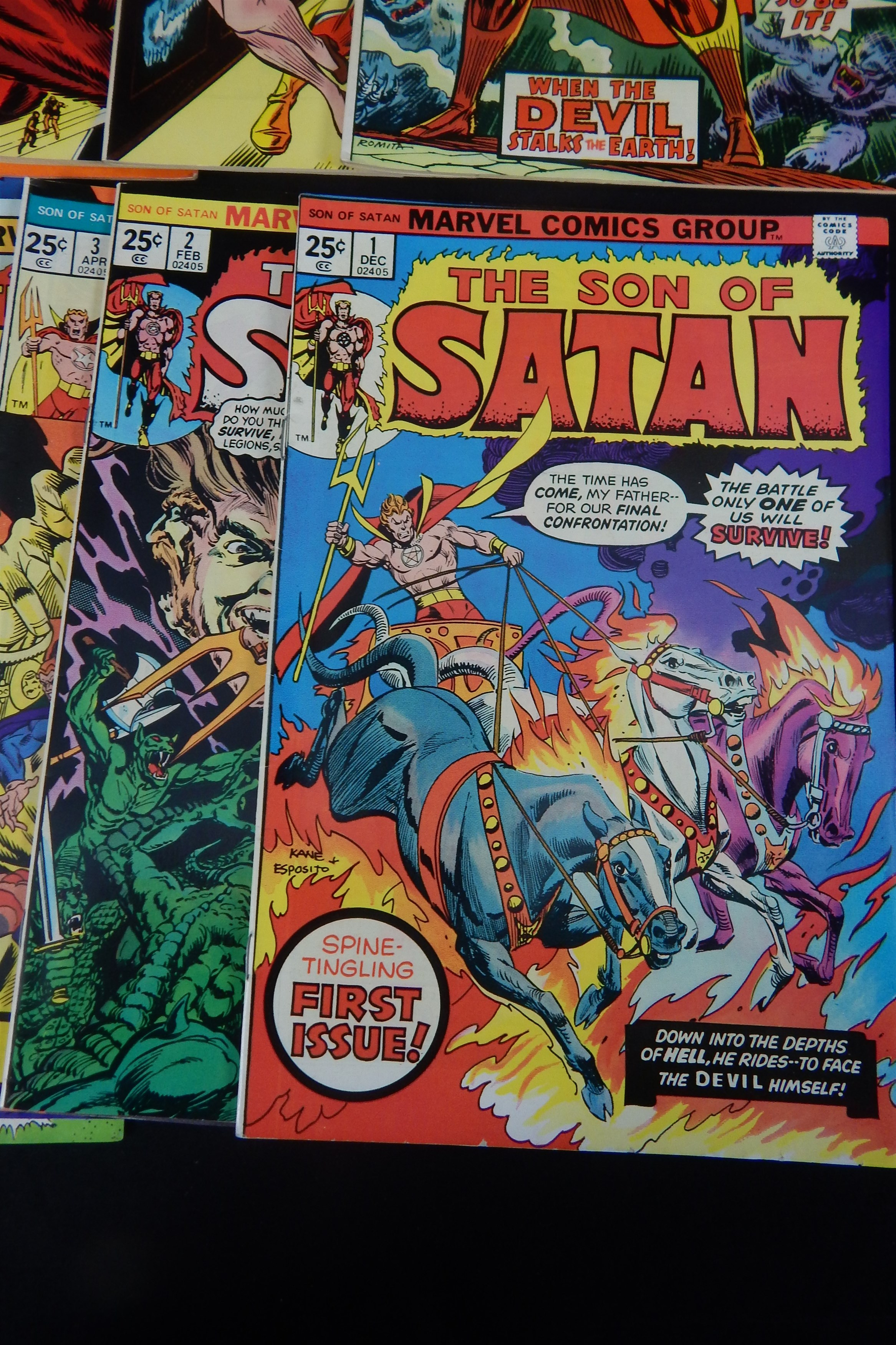 High Grade 1970s Son of Satan Marvel Comics Lot (22) - Fastidious Uncle Collection