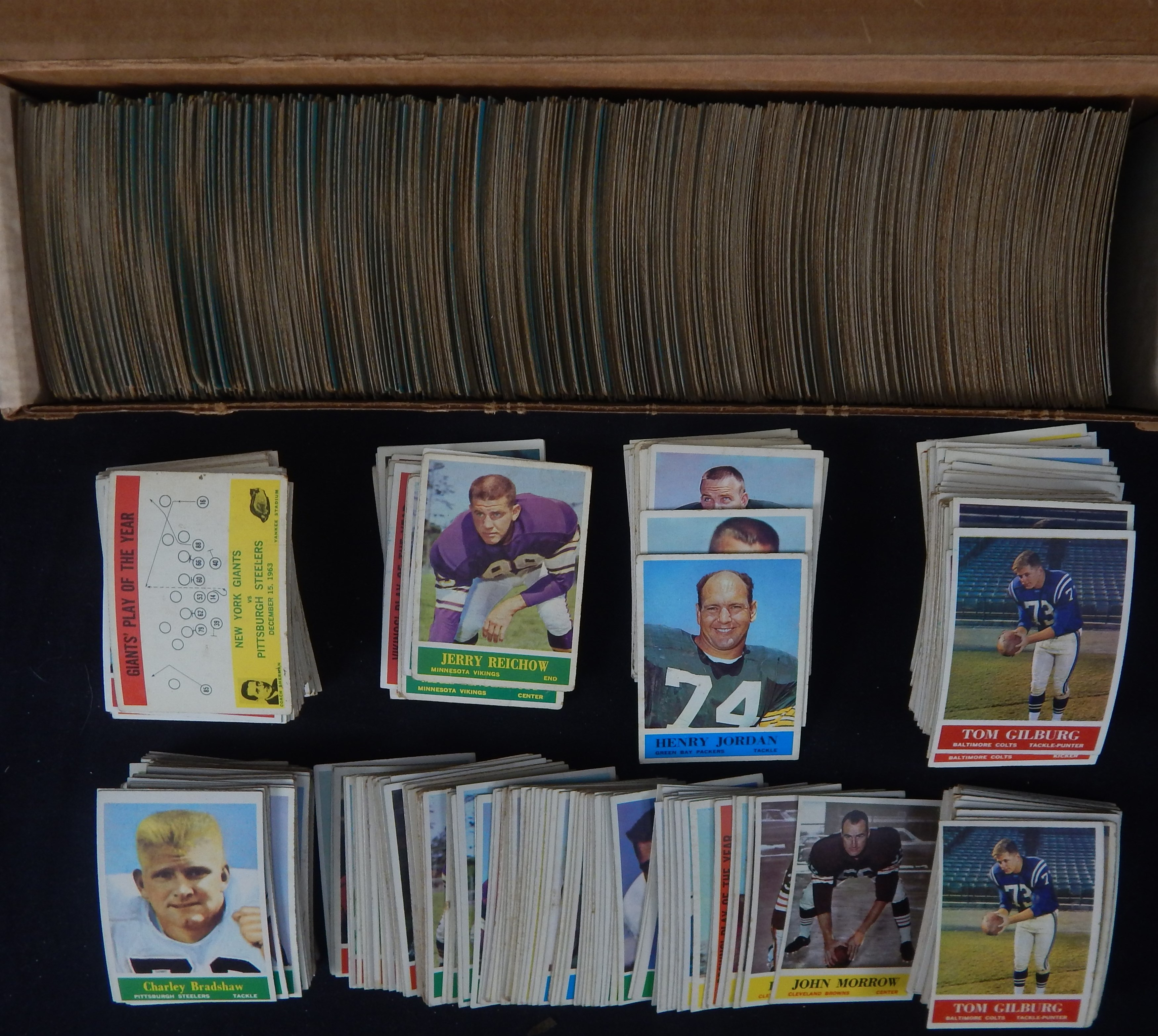 1964 Philadelphia Football Collection of 1,100+ Cards
