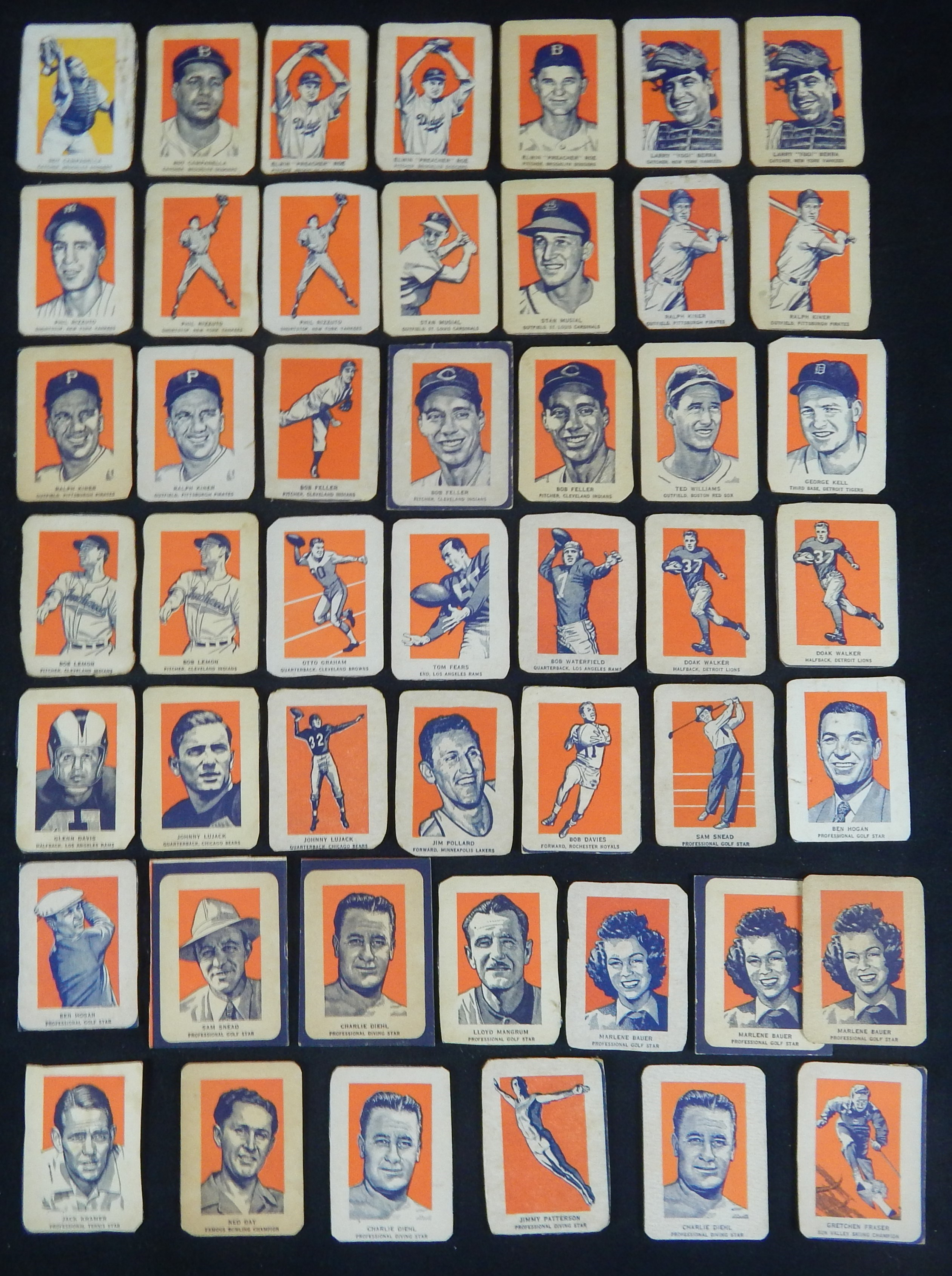 1952 Wheaties Collection of (40) Cards with Ted Williams