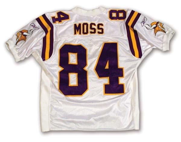 check out 75f3b d11fd 2001 Randy Moss Game Worn Jersey