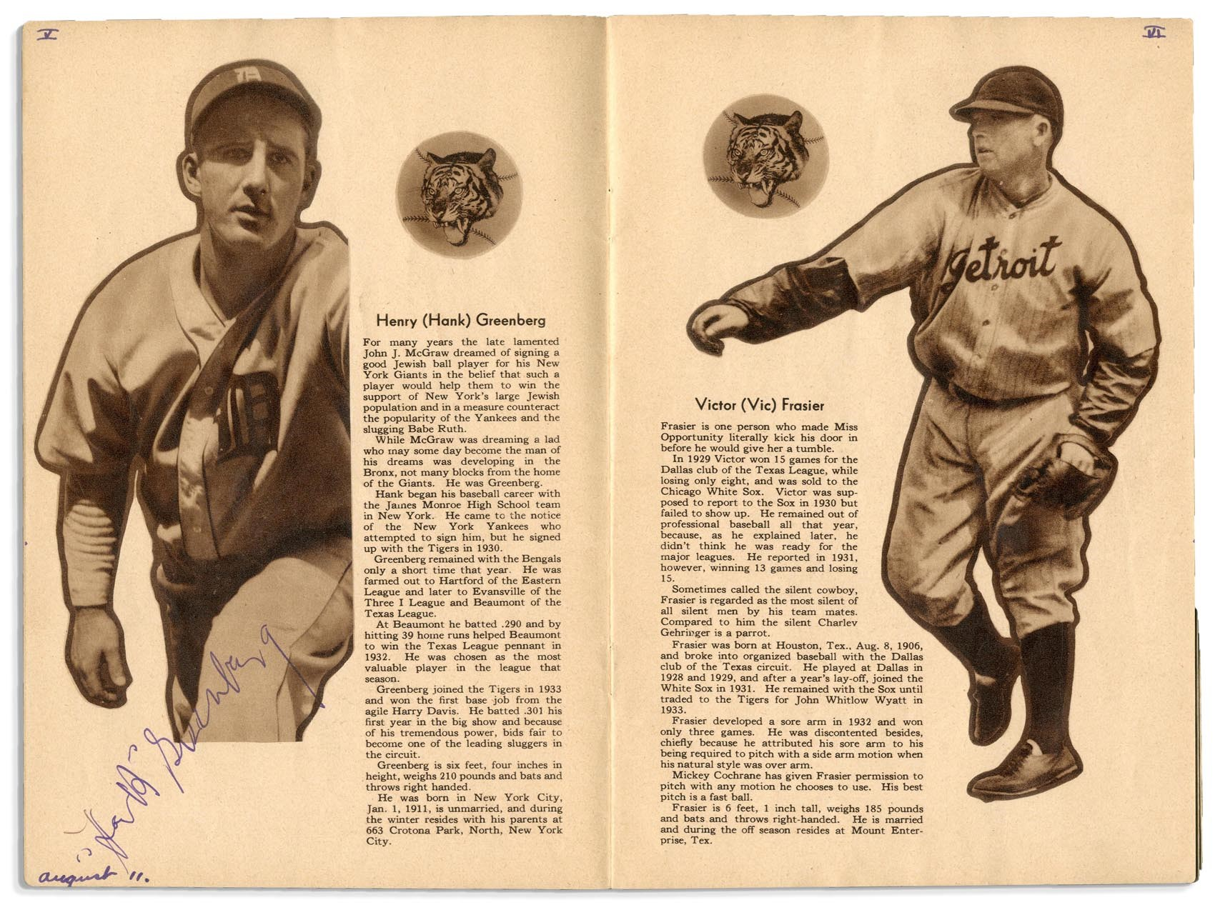 Ty Cobb and Detroit Tigers - Monthly 07-18