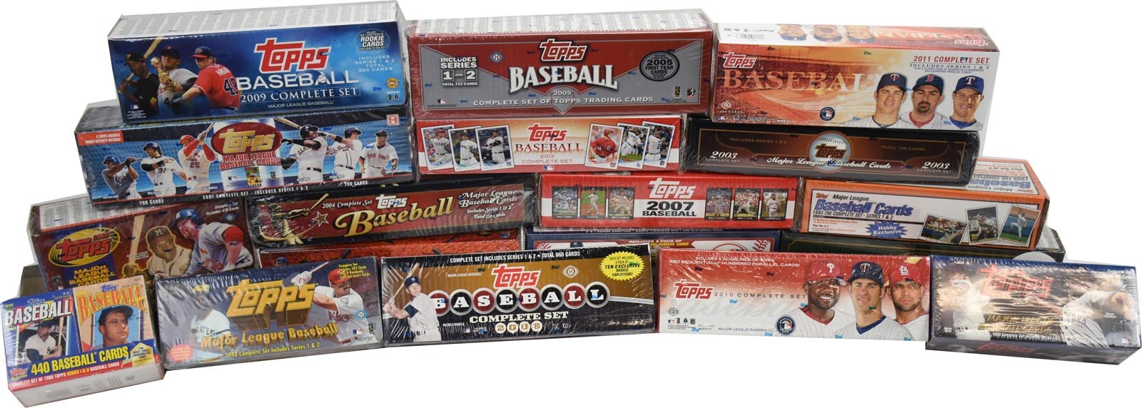 1995-2013 Topps Run of Sealed Complete Sets (19)