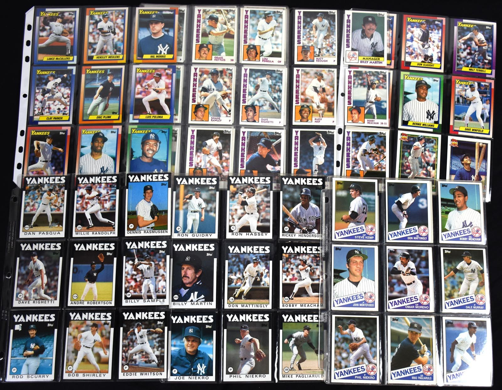 1980-1996 Team Set Collection of Yankees/Mets/Phillies Sets