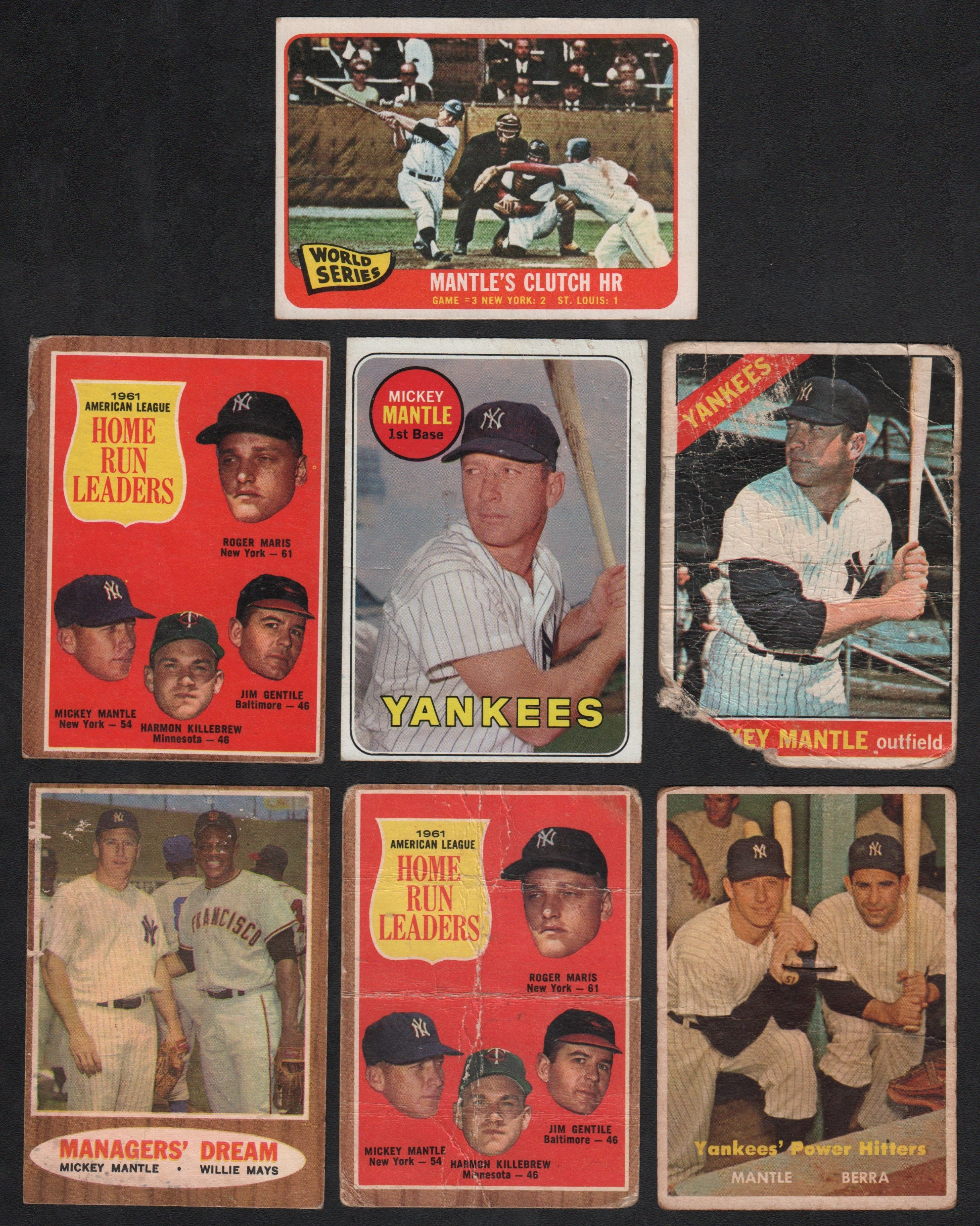 Mickey Mantle Topps Low Grade Collection