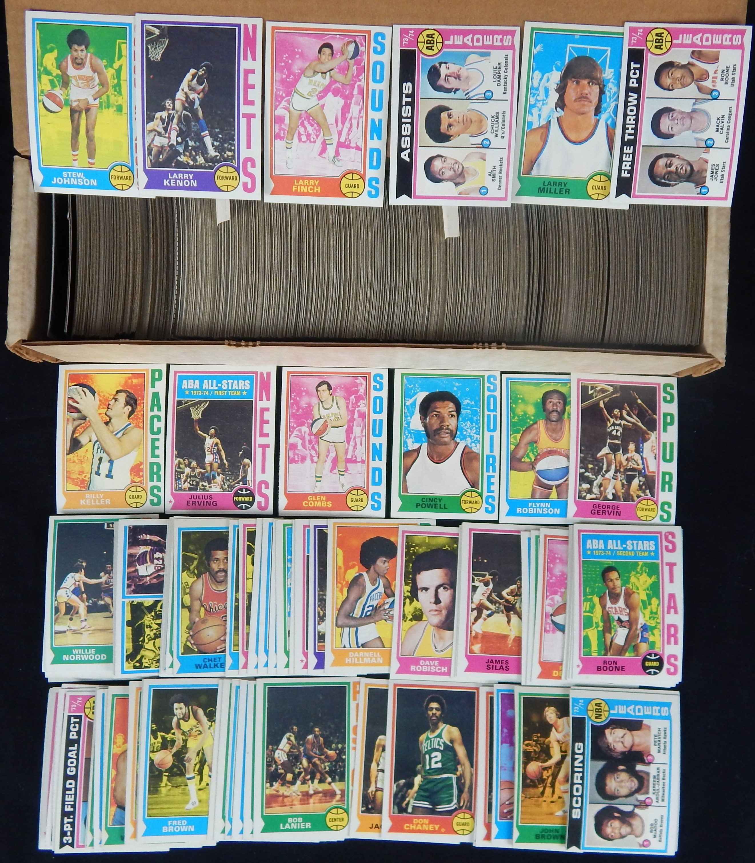 1974/75 Topps Basketball Complete Sets (3)