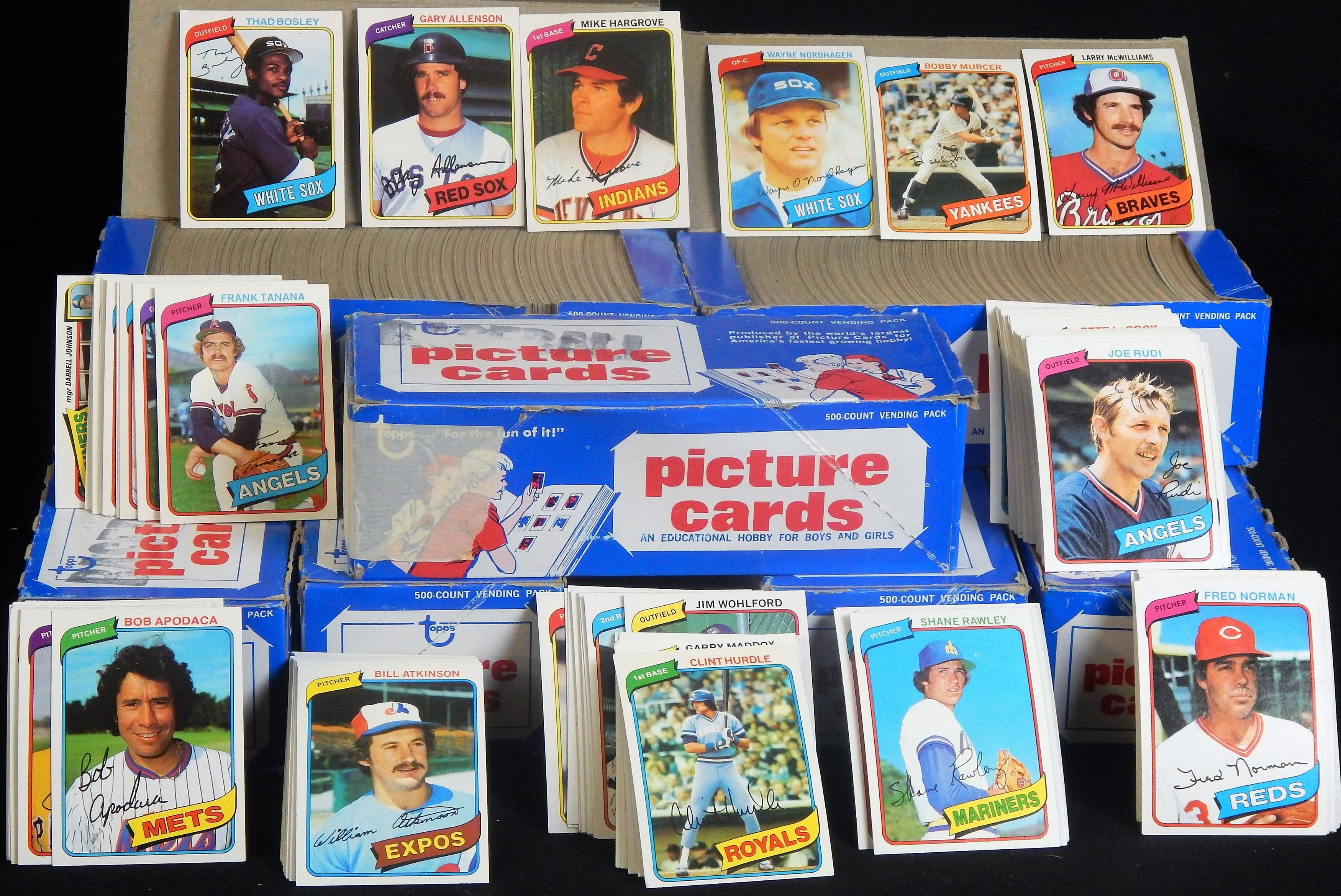 1980 Topps Vending Boxes of 3,000+ cards