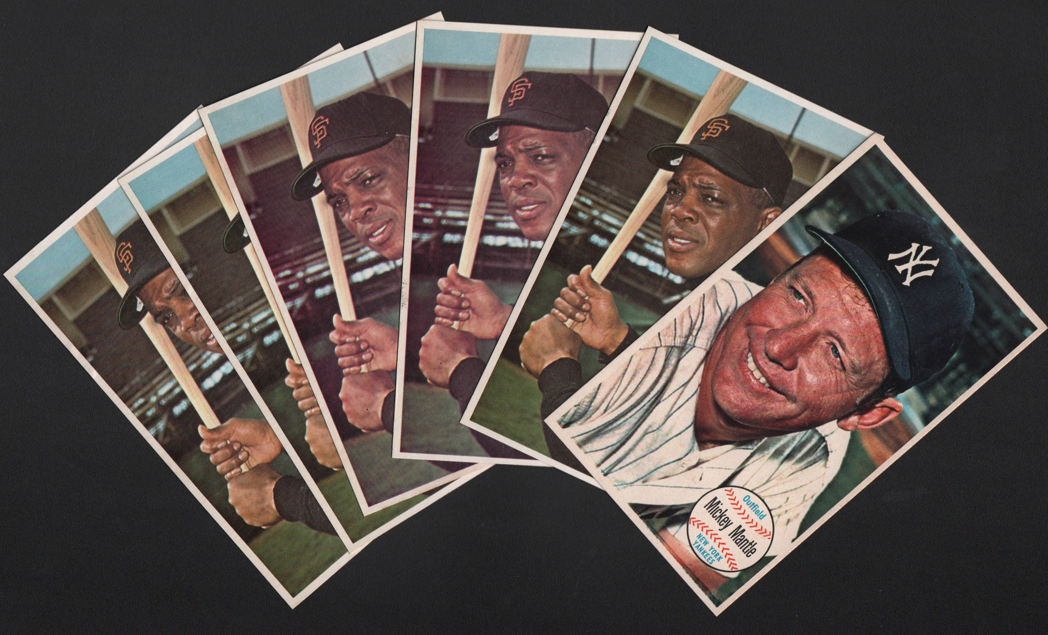 1964 Topps Giants Lot of (15) with Mays and Mantle