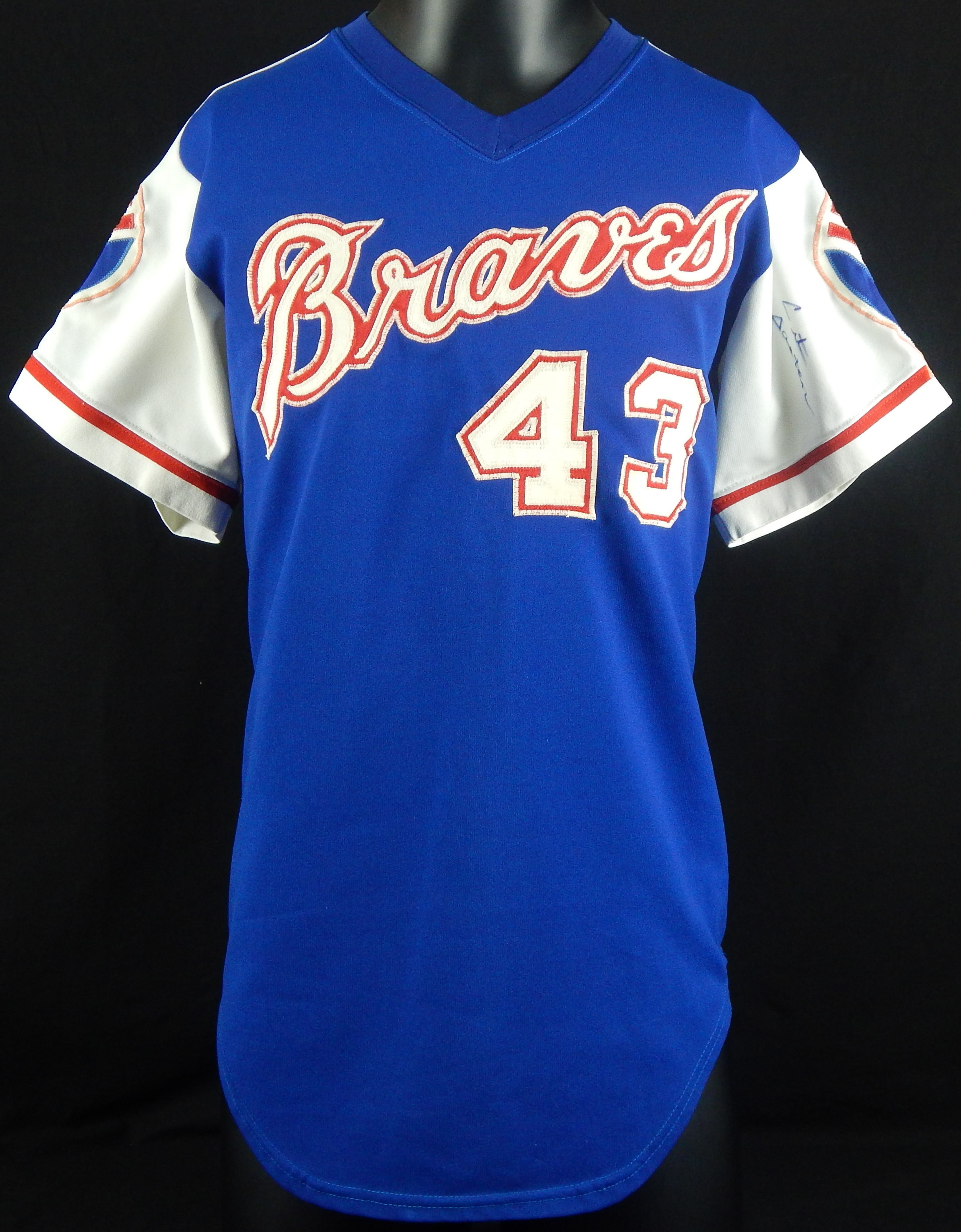1975 Cito Gaston Game Worn and Signed Atlanta Braves Jersey