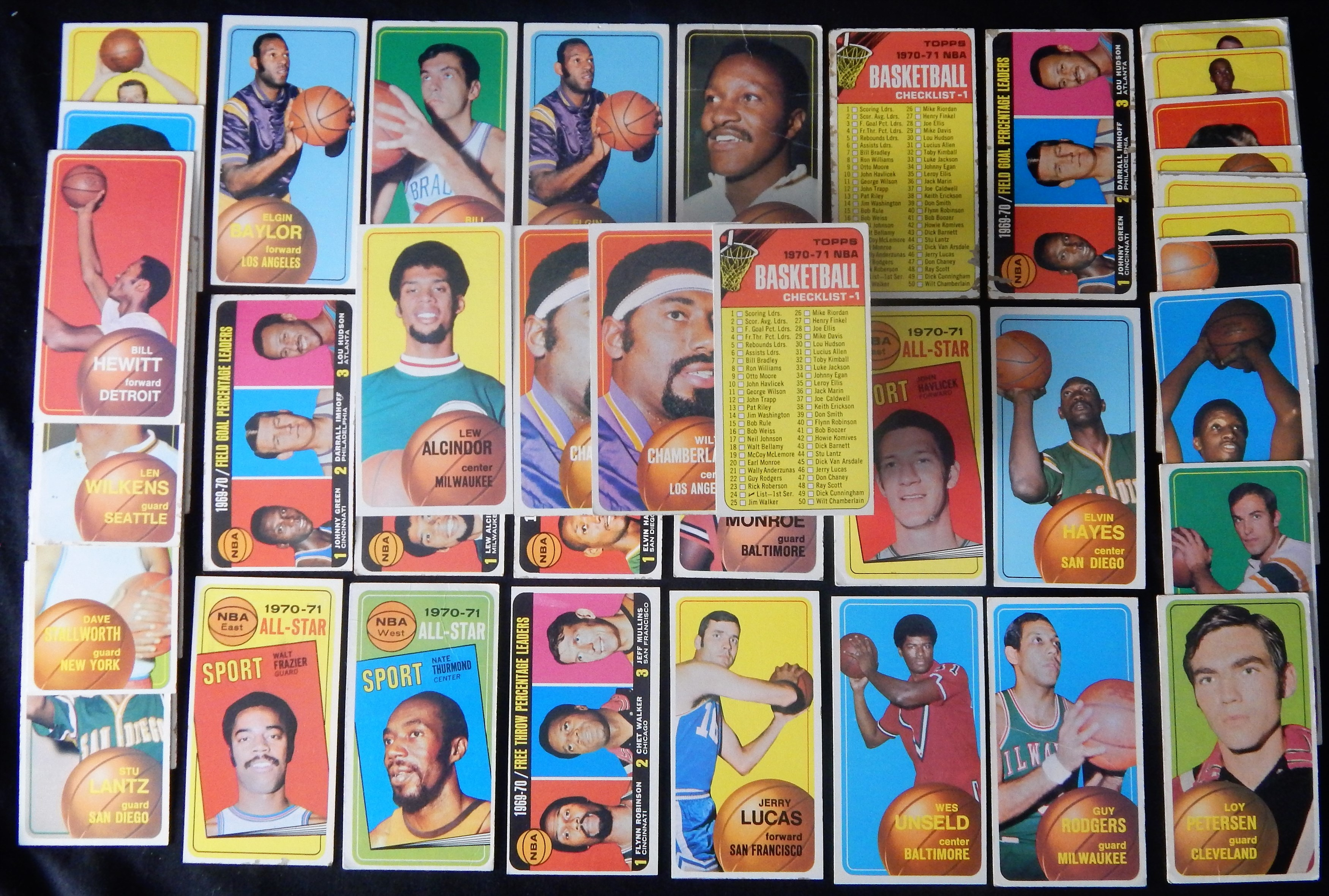 1970/71 Topps Basketball Cards with Some Stars (52)